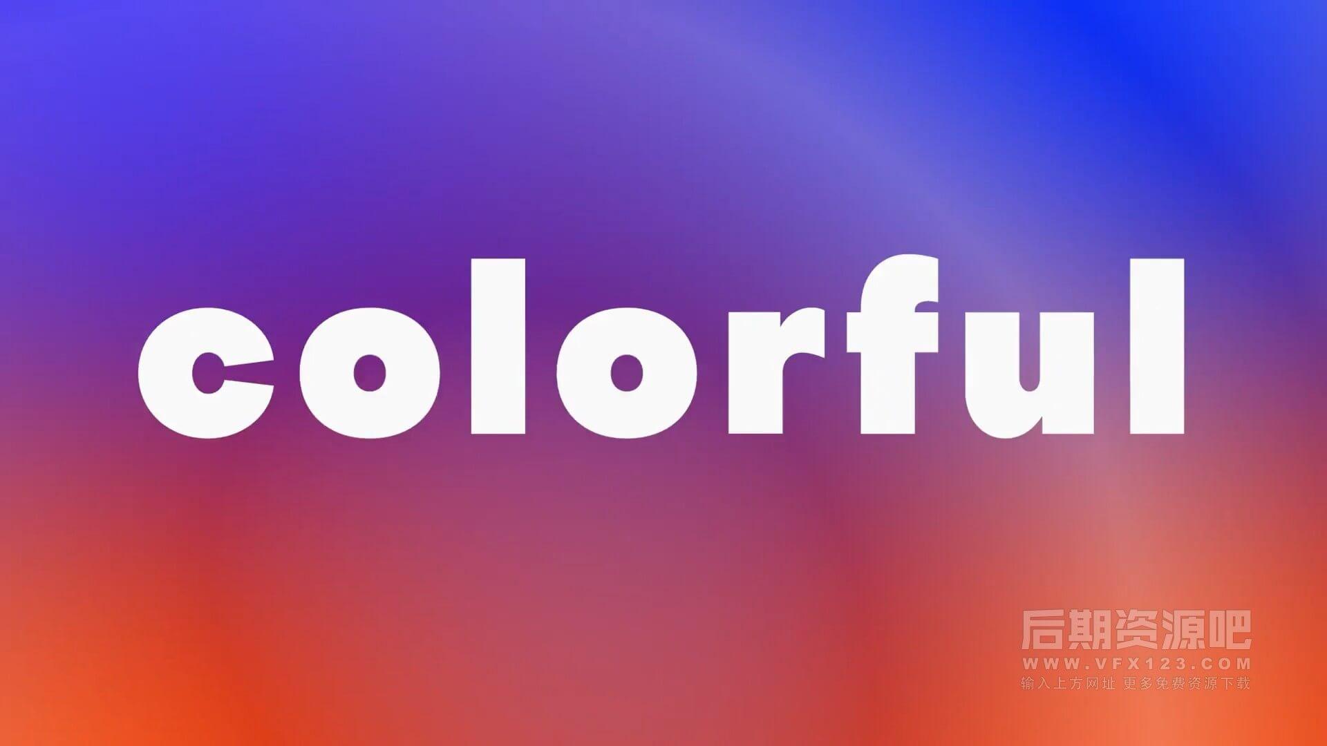 Fcpx主题模板 干净明快多彩背景快闪卡点文字片头 Stomp Colored Opener