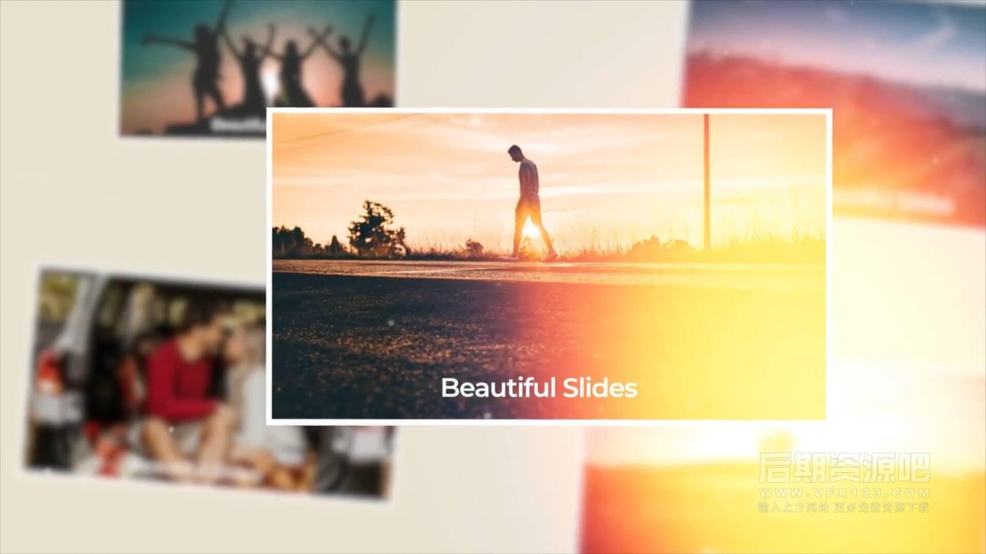 fcpx主题模板 时尚旅行假日家庭电子相册展示模板 Beautiful Slides