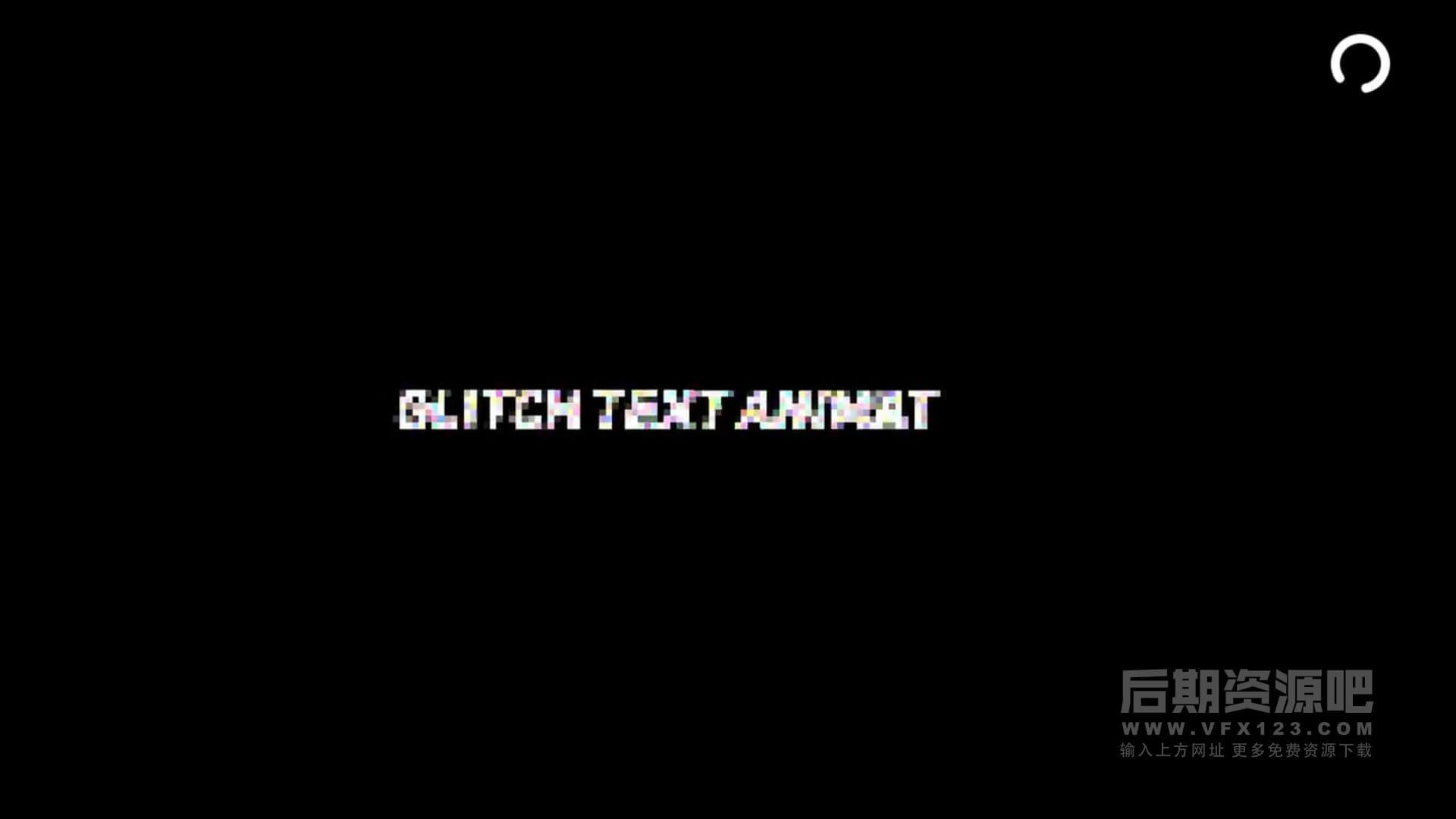Fcpx插件 信号干扰故障文字标题效果制作工具 Glitch Text Animations