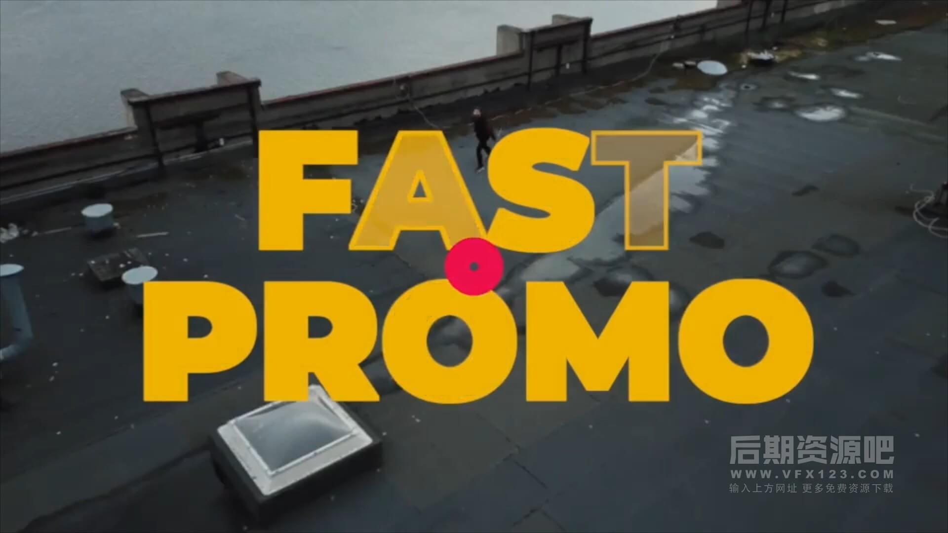 fcpx主题模板 快闪图片动画LOGO徽标展示片头 Super Fast Promo