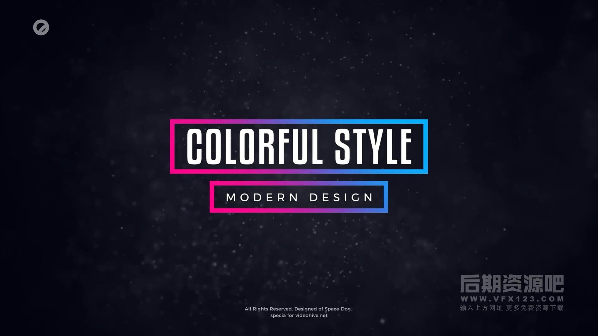 fcpx标题预设 4K30组简约彩色字幕条排版动画模板 Colorful Titles