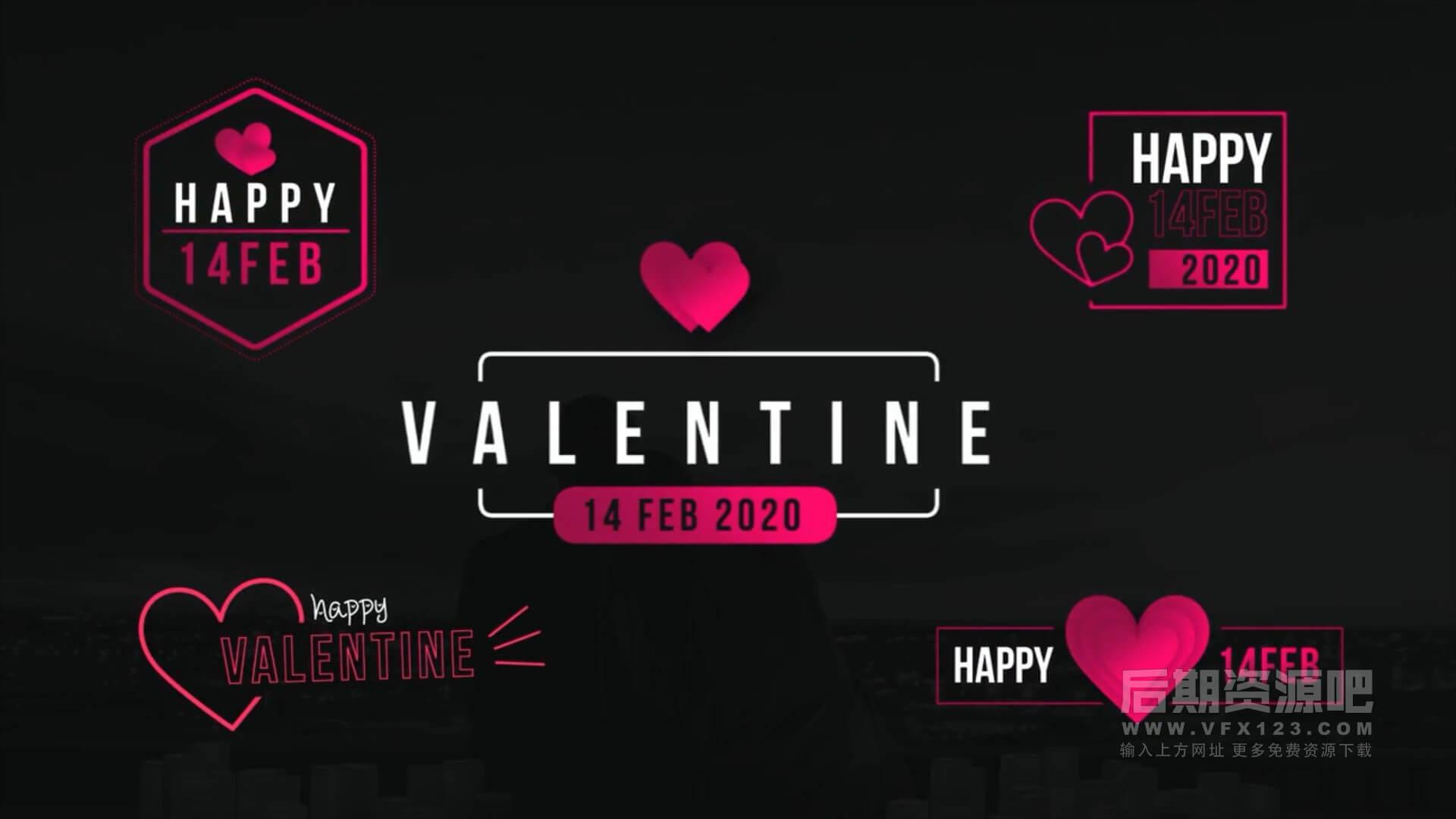 Fcpx插件 10组爱心桃心装饰 情人节婚礼人名日期字幕标题 Valentine titles
