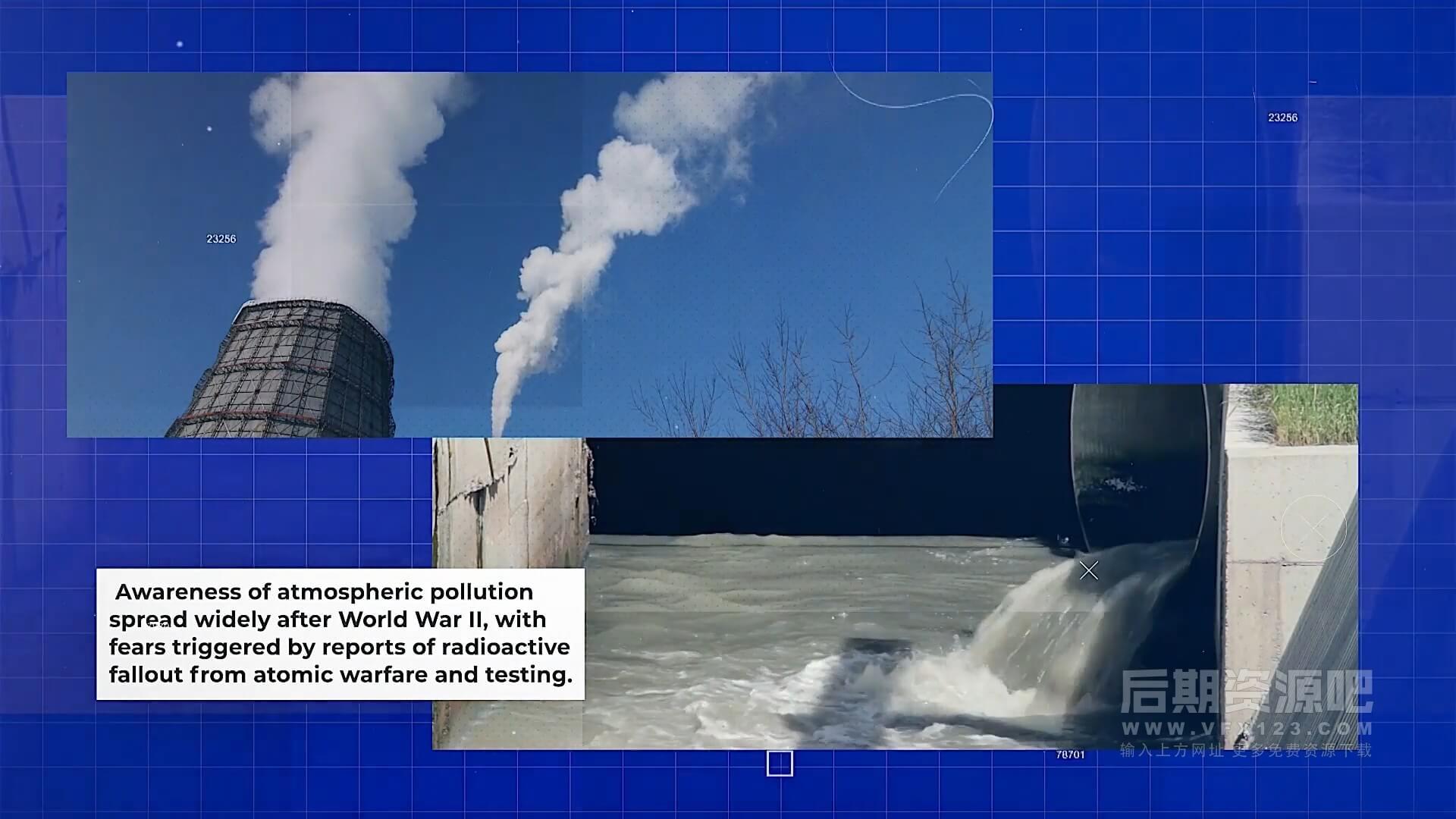 fcpx插件 10组纪录片新闻播报画中画图文展示模板 Pollution Documentary