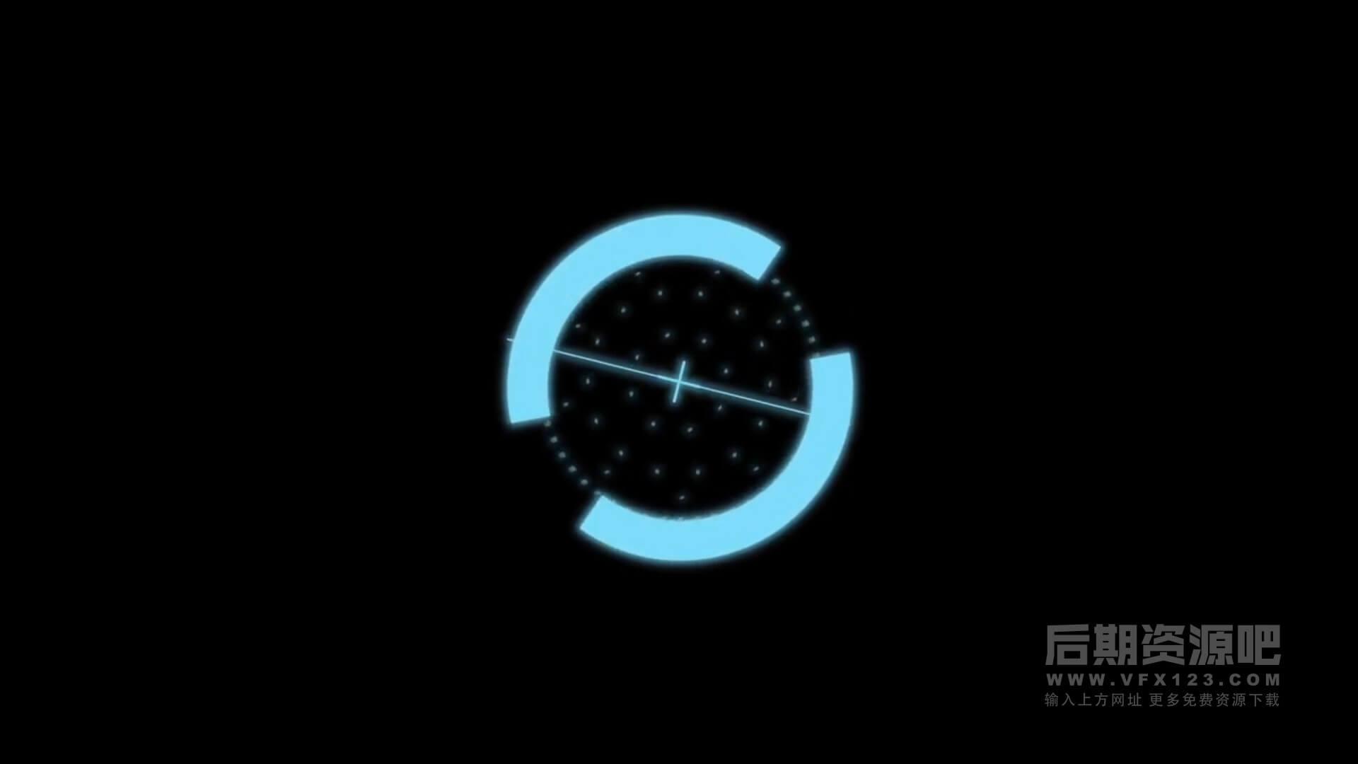FCPX动画元素 科幻未来HUD界面动态元素 HUD Elements
