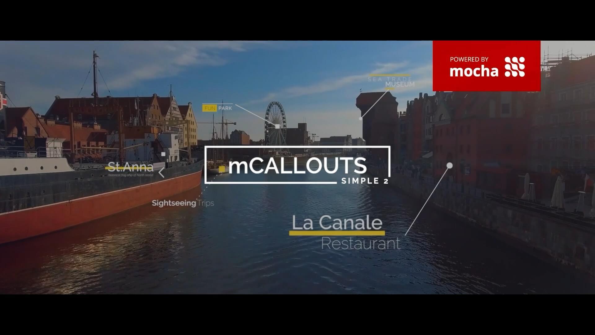 FCPX插件 50种自动跟踪线条呼出标题注释动画 一键安装版 mCallouts Simple 2