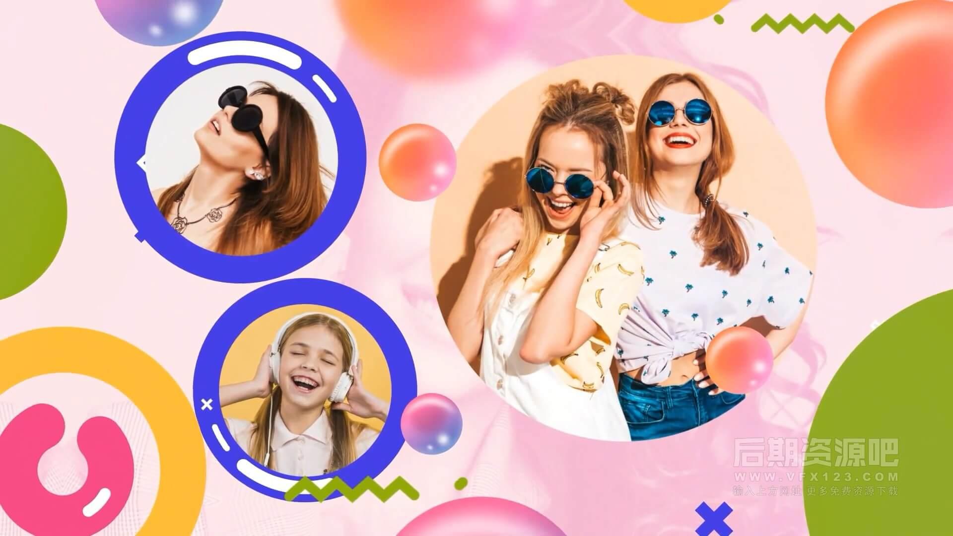 AE模板 时尚动感儿童短片开场 Kids Fashion Slideshow