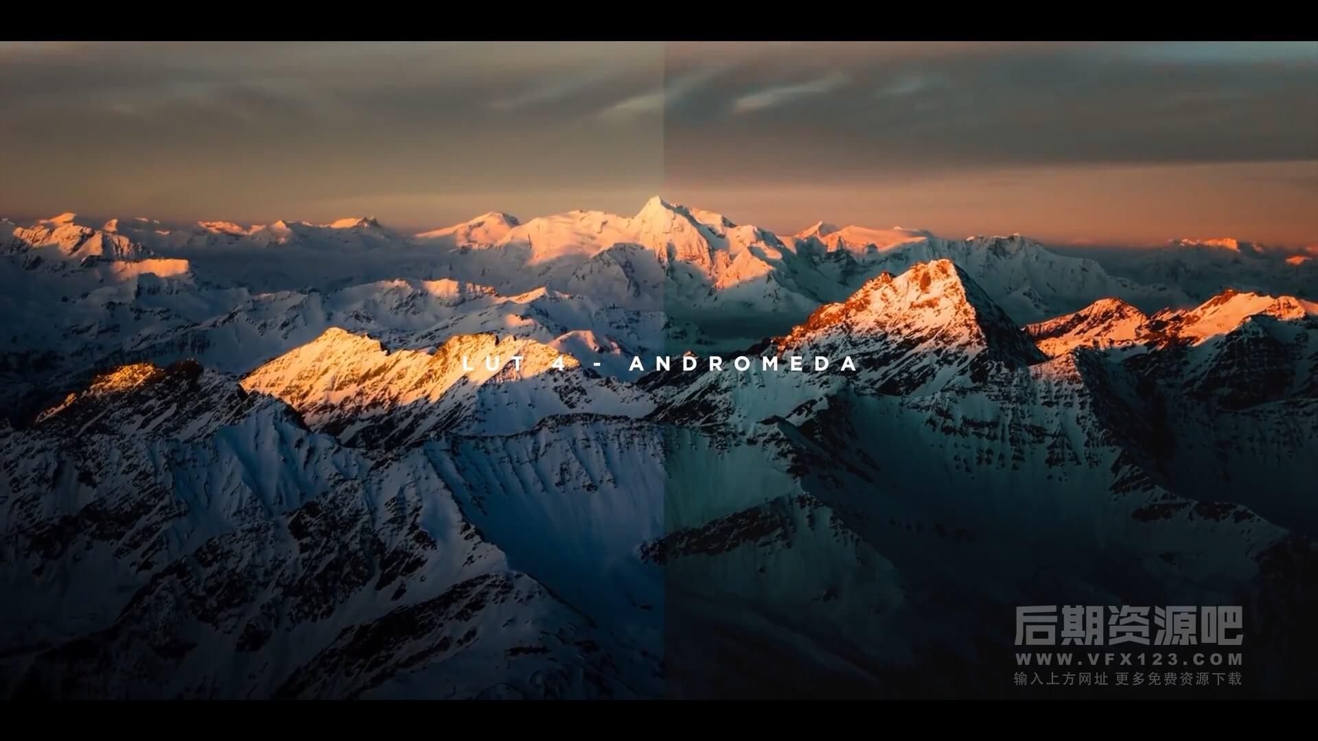 LUTs预设 15个无人机航拍风景大片调色 电影颜色分级工具