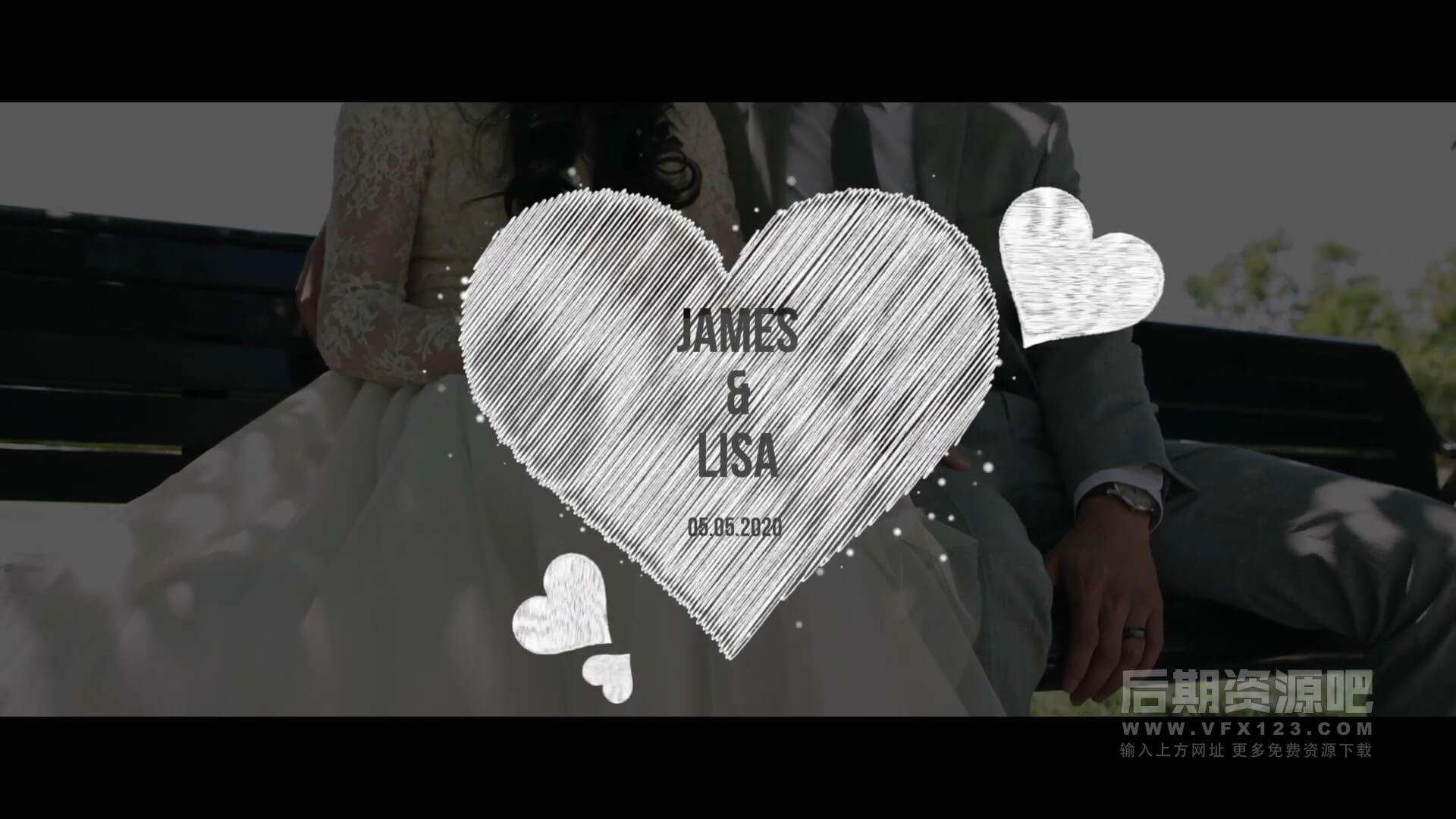 fcpx模板 婚礼MV开场写真影片制作素材包 Wedding Pack