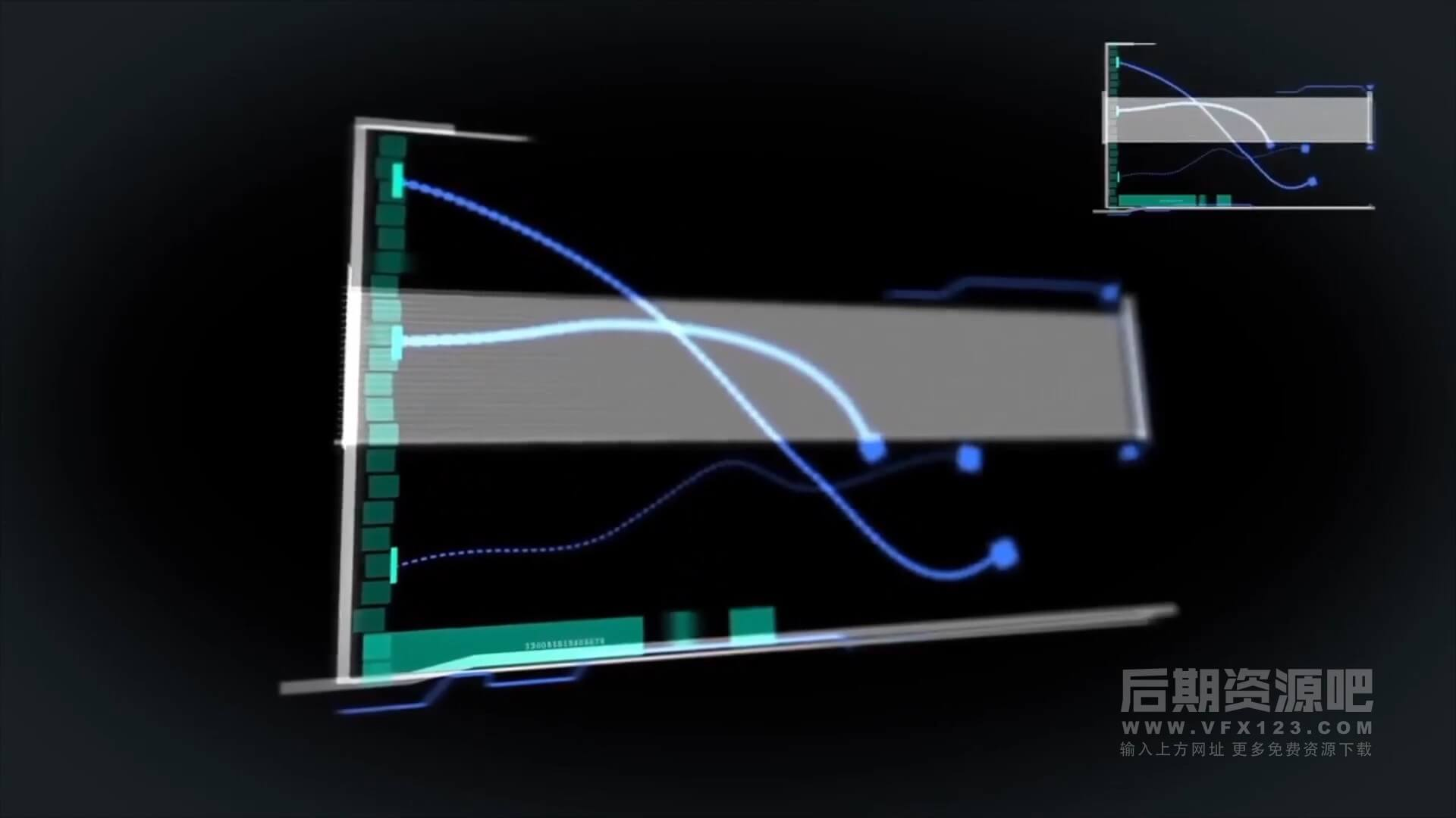 fcpx插件 20个超现代科技HUD全息图表动画元素 HUD Elements Pack