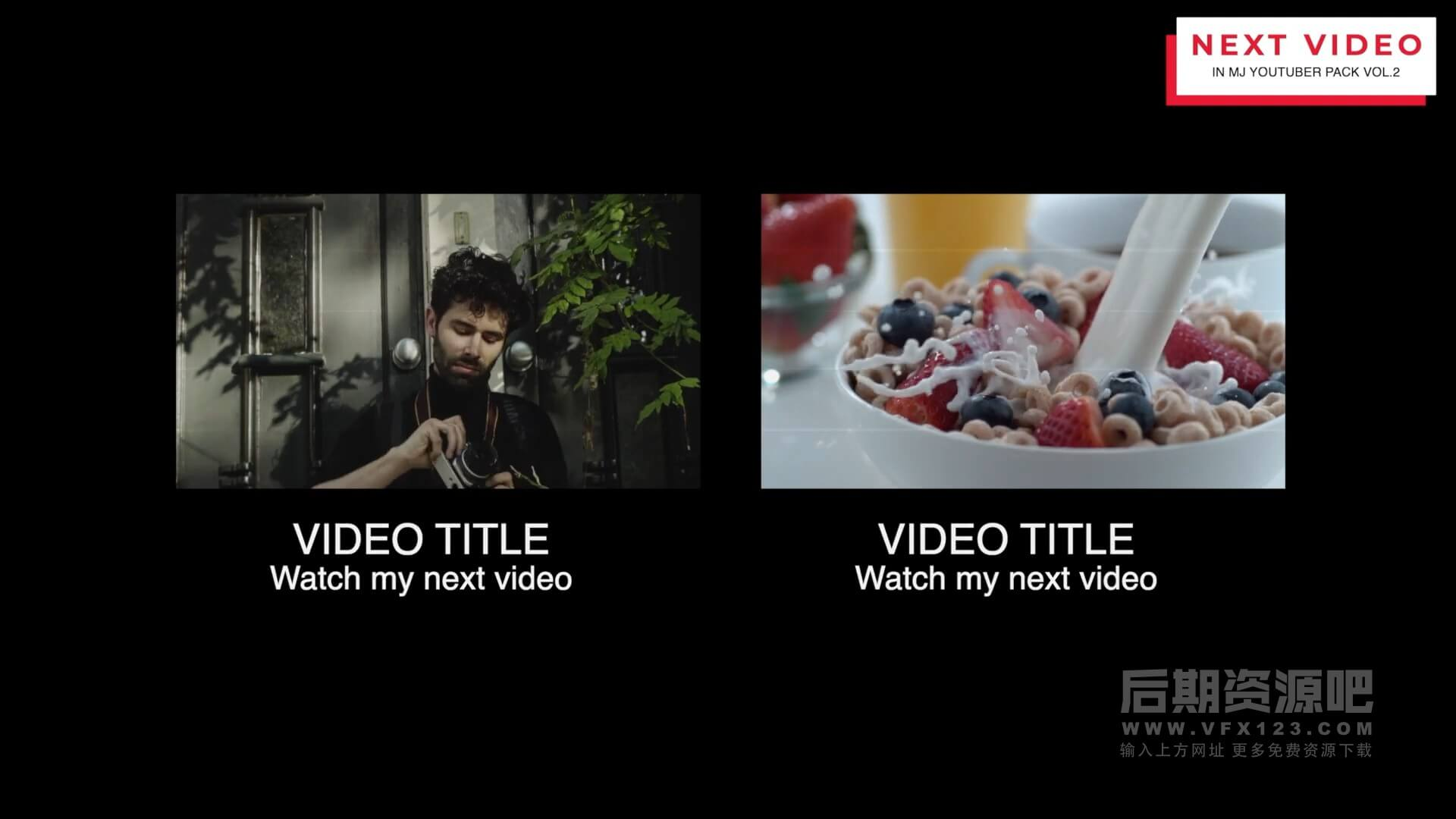 fcpx插件 自媒体短视频博主影片制作工具包 第二季 标题+转场+点赞+预告