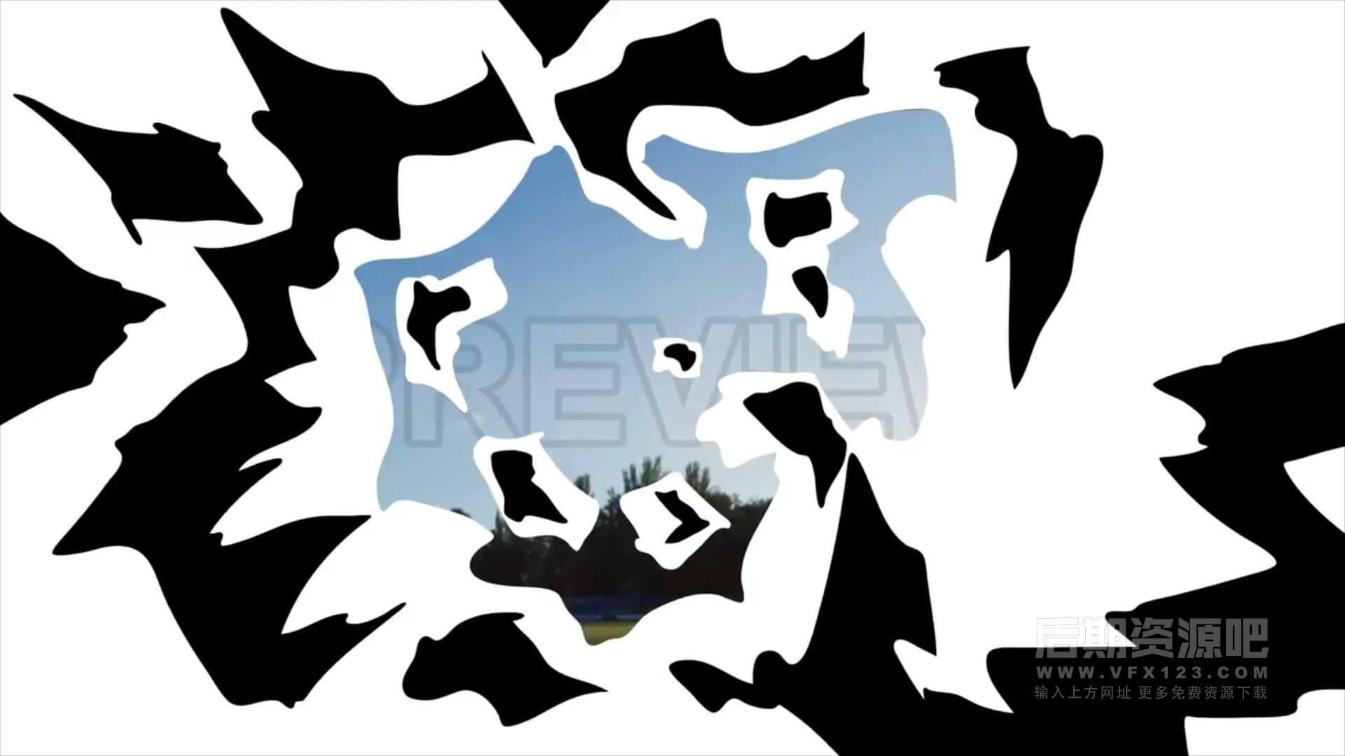 Fcpx转场插件 10组手绘卡通爆炸火焰效果过渡转场预设 Explosion Transition