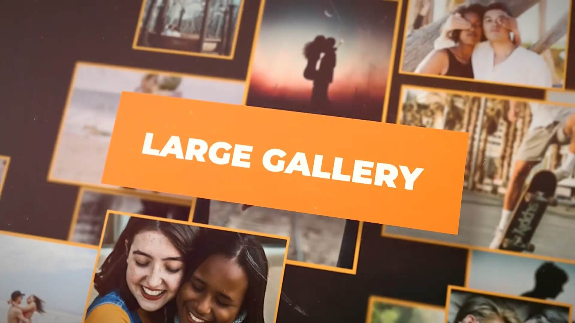 Fcpx多图展示模板 复古相机抖动风格相册作品集展示 Fast Large Gallery