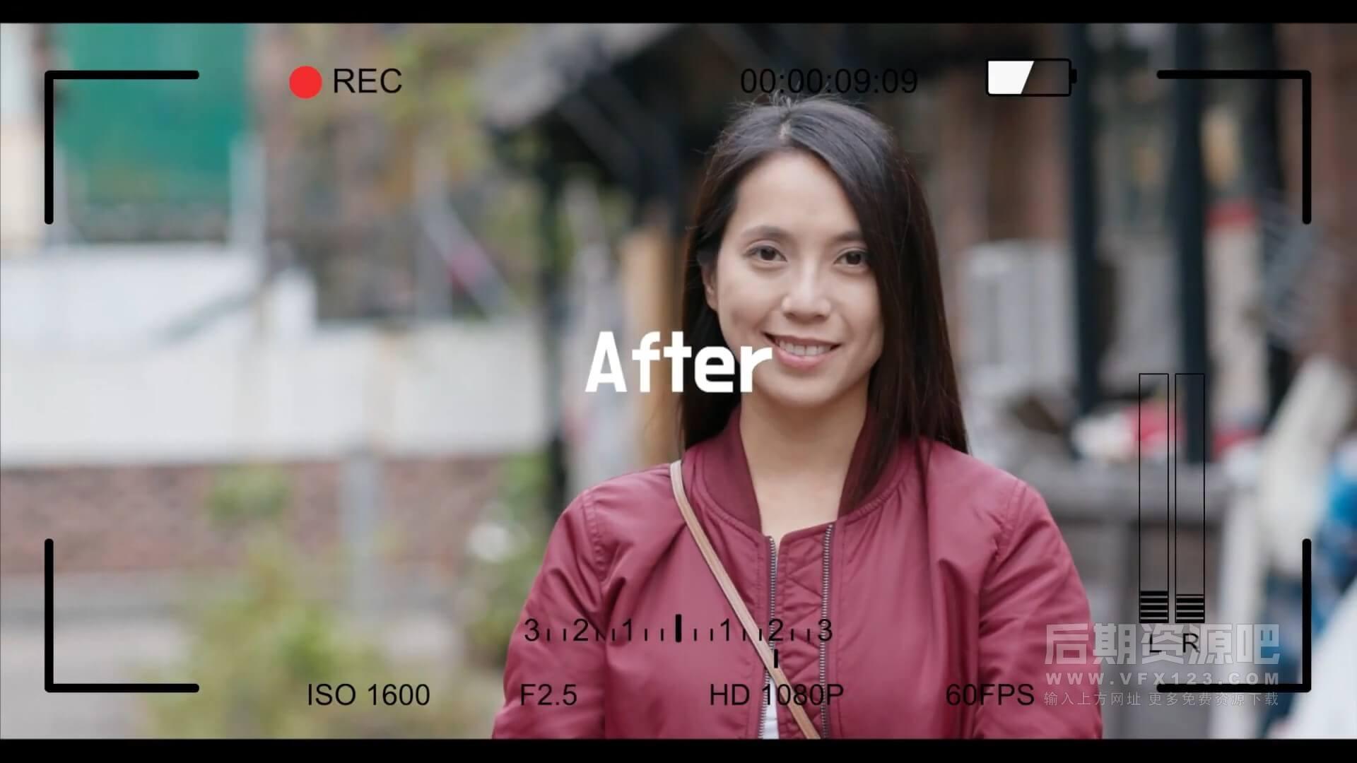fcpx效果插件 数码相机屏显信息录制状态边框动画 Camera DSLR Motion