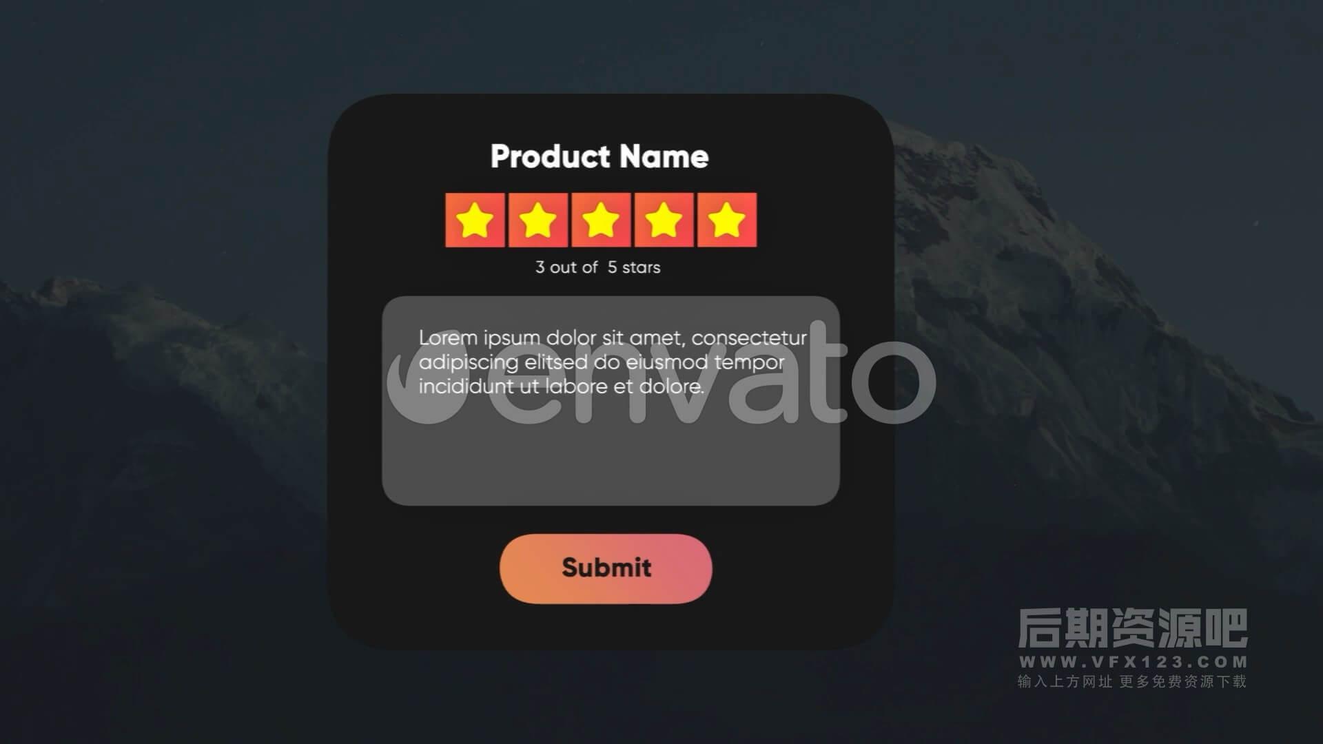Fcpx插件 五星评价评分元素动画制作包 Rating Elements Toolkit