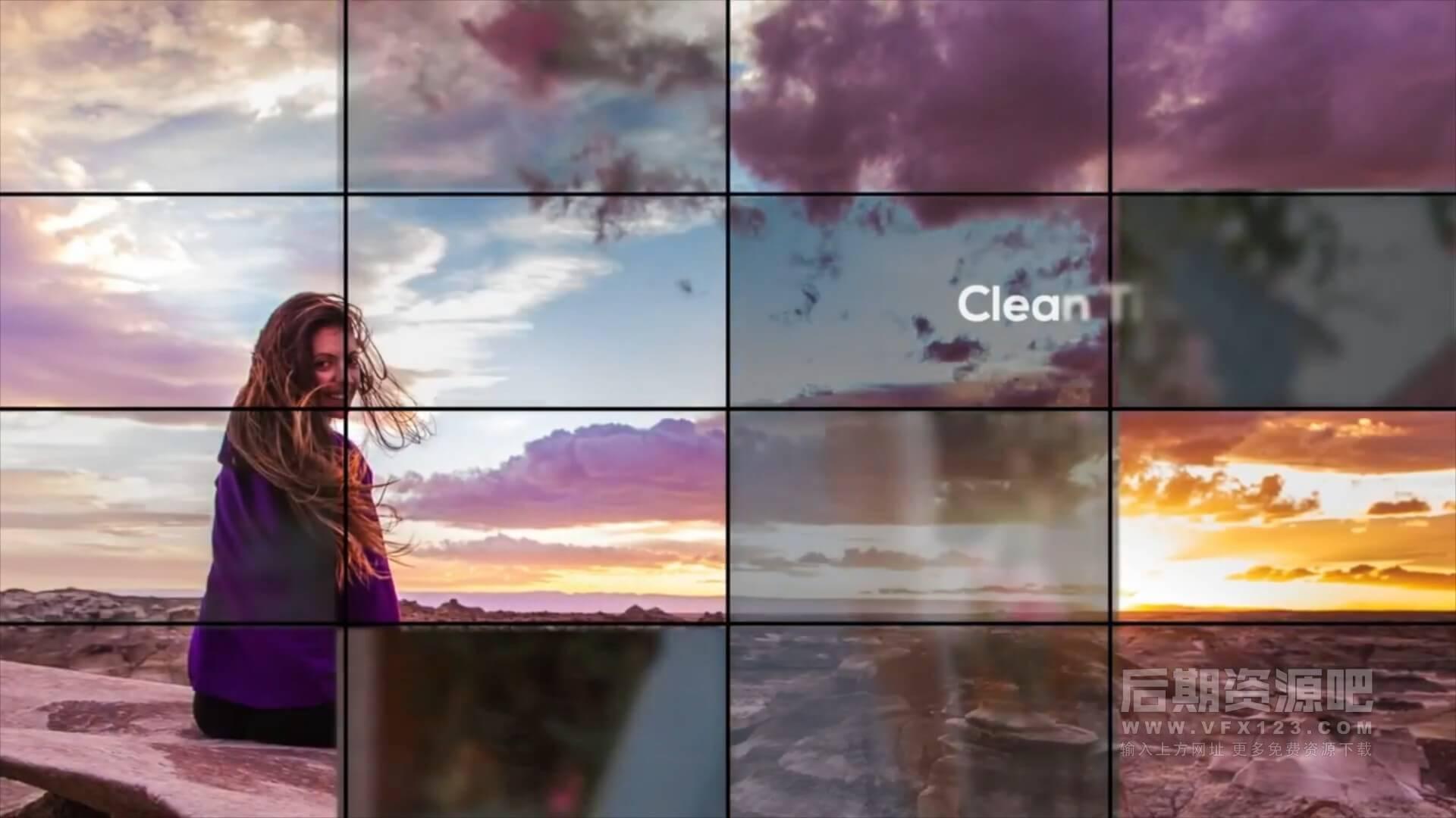 Fcpx主题插件 动态网格效果图片视频展示模板 Elegant Grid Photo Slideshow
