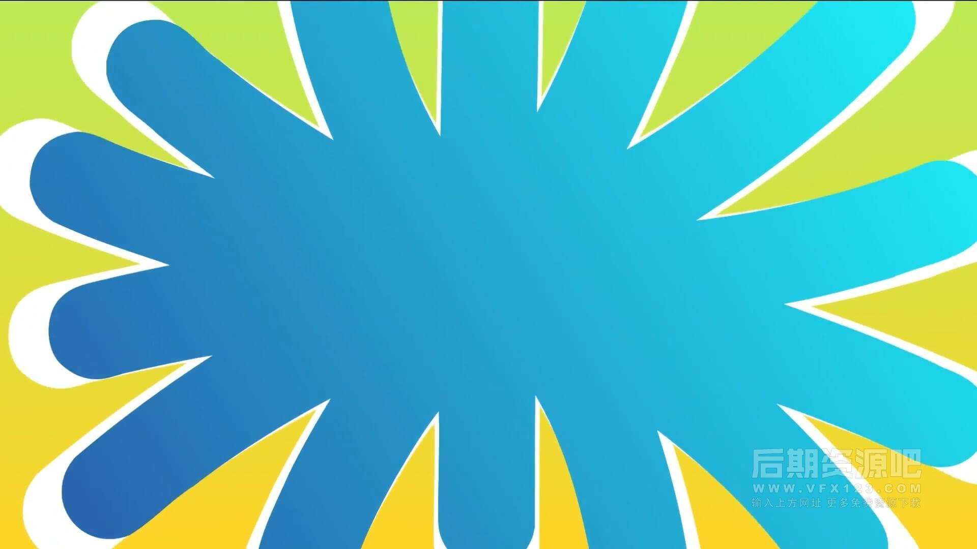 Fcpx转场插件 12组卡通多彩活力平滑过渡转场预设 Colorful Smooth Transitions
