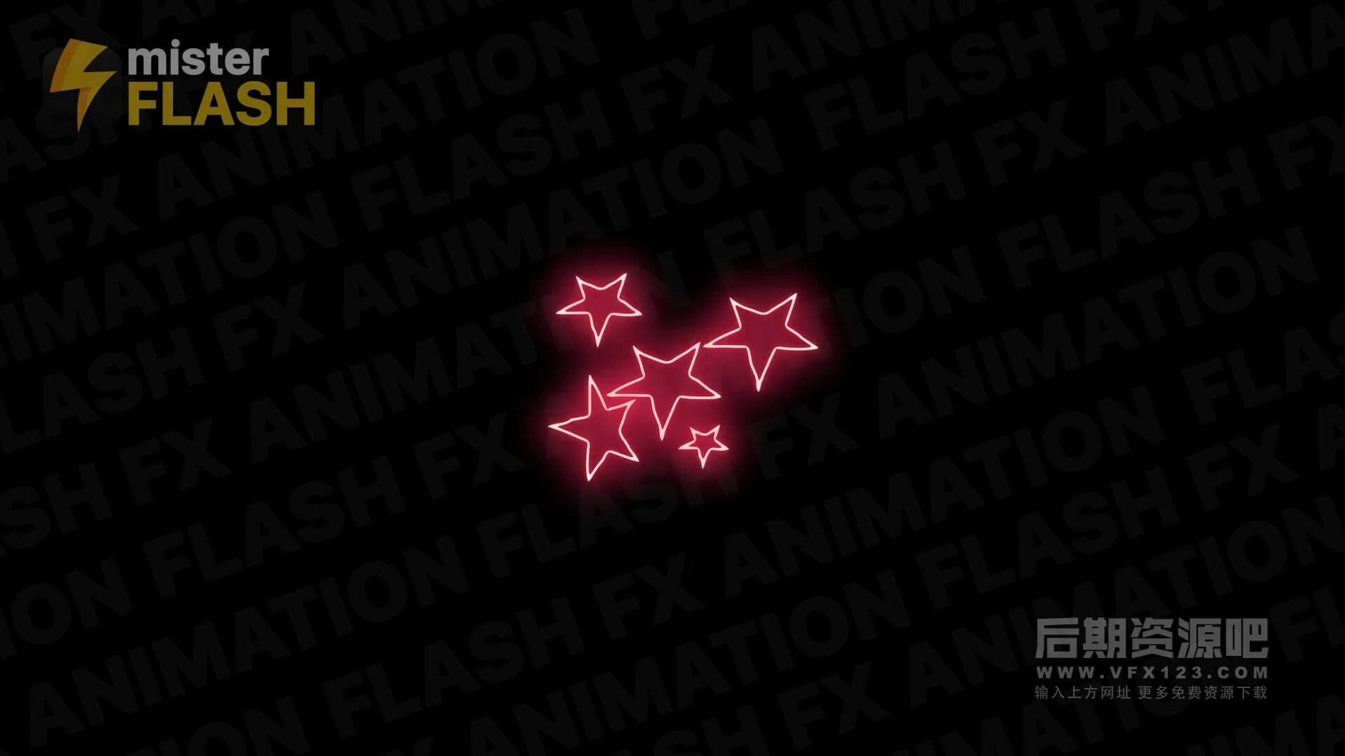 FCPX插件 霓虹灯发光手绘闪烁效果动画元素 第二季 Neon Generators