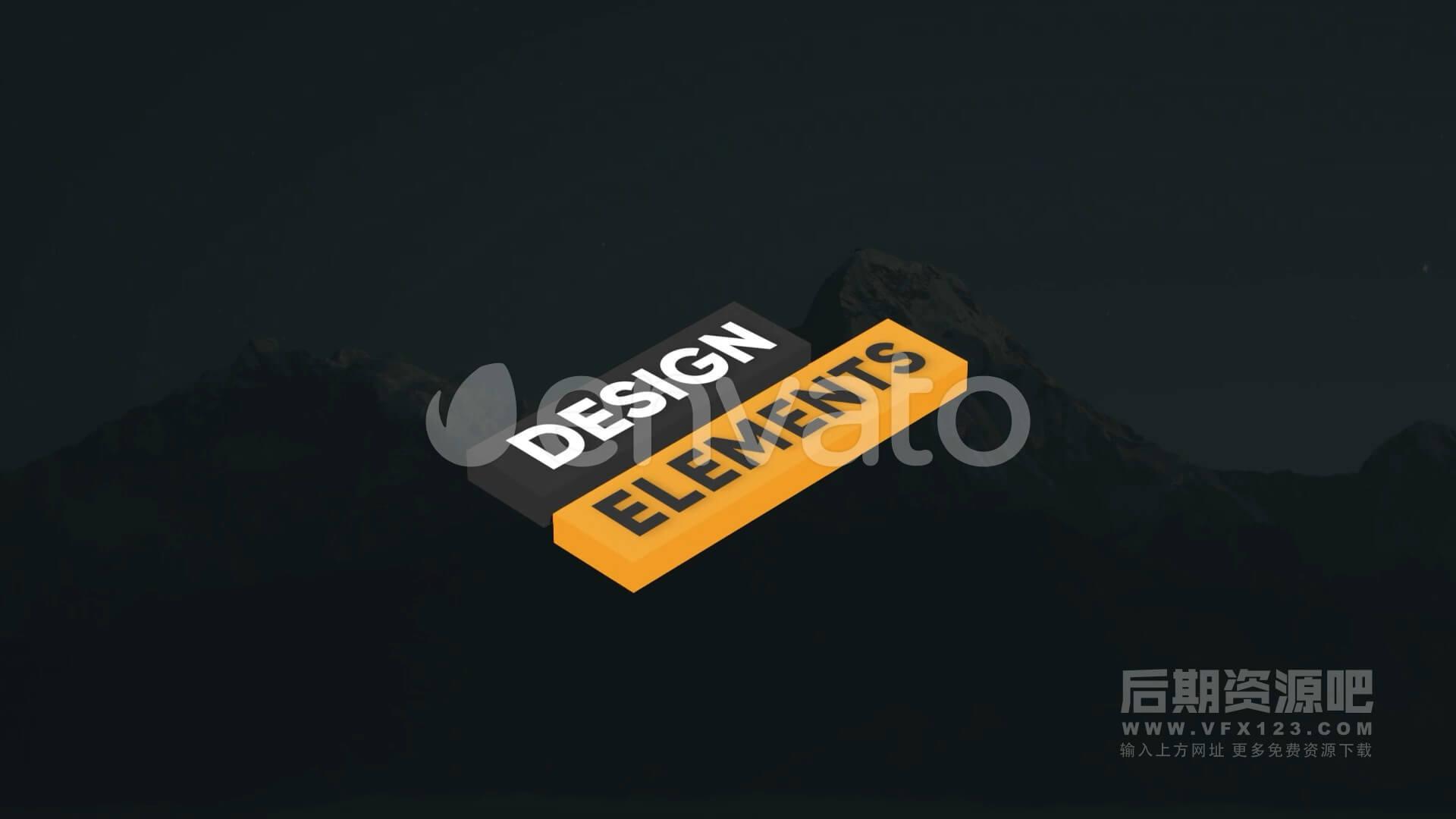 Fcpx标题插件 3D立体标题制作工具 第二季 Modern Isometric Titles