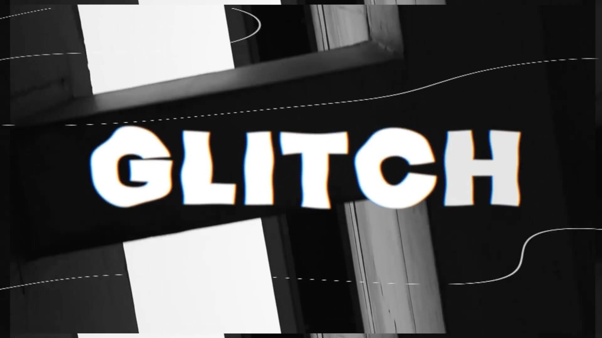 fcpx主题模板 创意现代故障干扰特效动态预告片含竖屏 Bold Glitch Opener