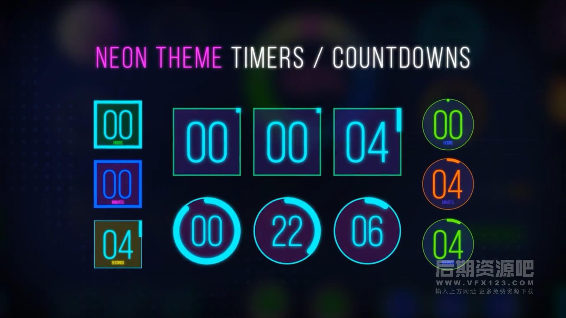 AE模板 倒计时进度条计时器时间管理动画包 Easy Time Countdown
