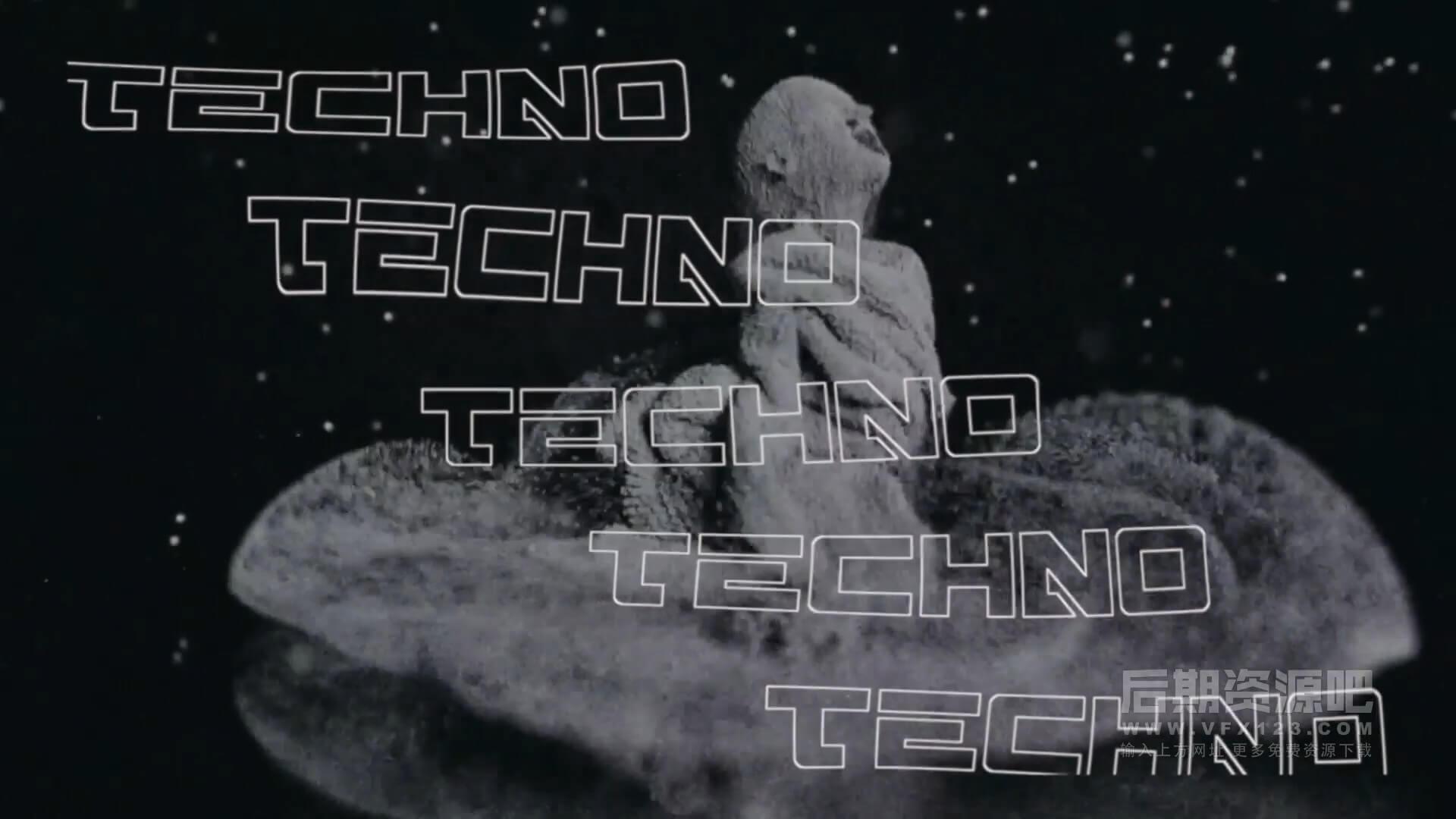 fcpx主题模板 数字未来科技片头含竖屏含motion工程 Techno Glitch Opener