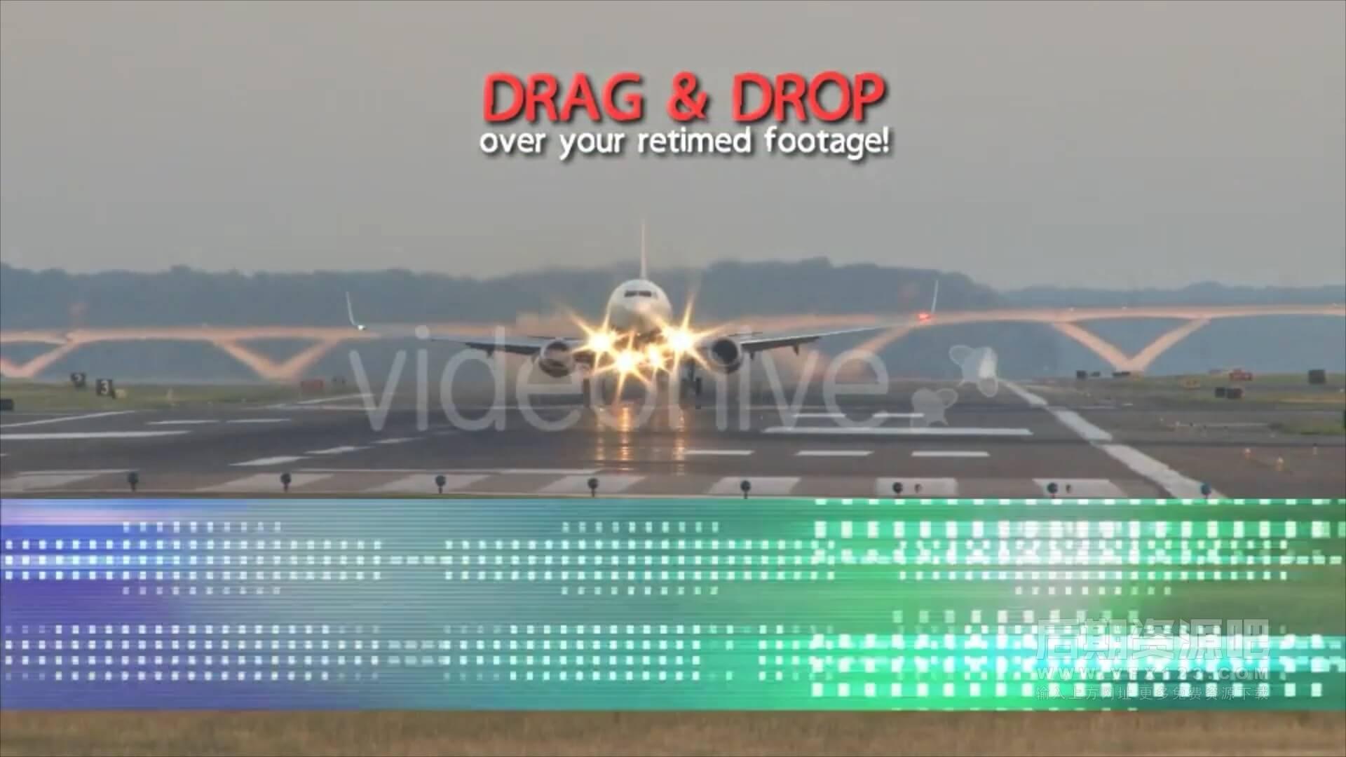 视频素材 为影片添加倒带回放快进画面特效附音效 Rewind FX