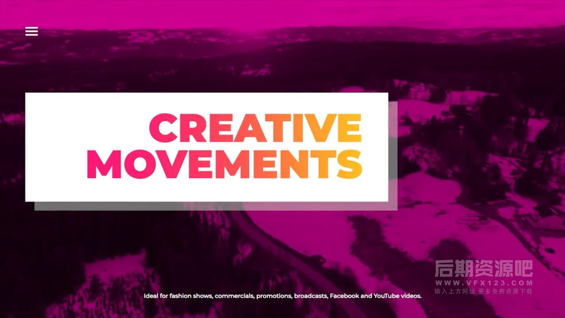 fcpx插件 12组精美文字标题排版动画带转场 Elegant Typo Scenes