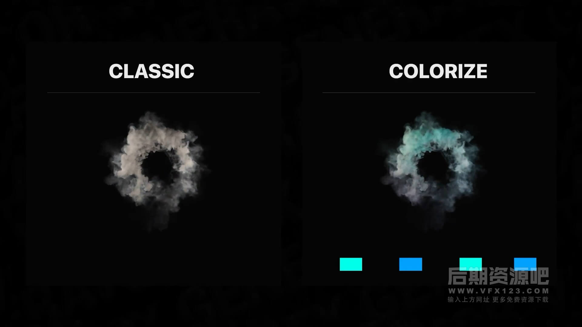 fcpx插件 仿真模拟烟雾火焰特效动画元素 Smoke And Fire VFX Simulation