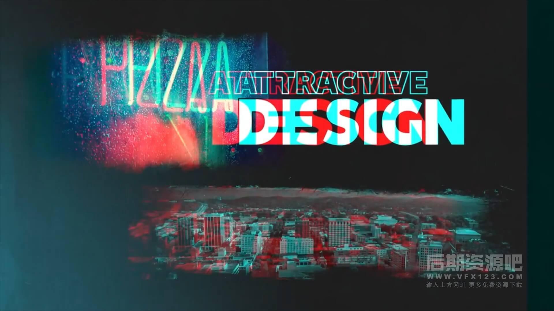 fcpx主题模板 动感嘻哈活力有趣片头模板 Kinetic Typography Opener