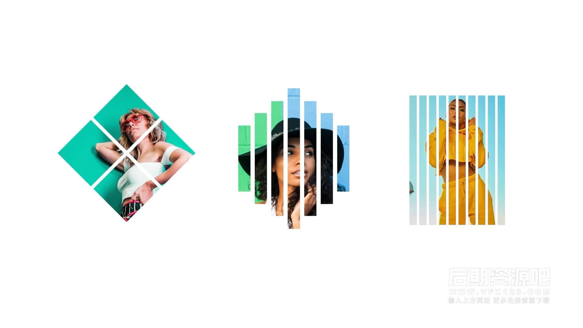 fcpx插件 10组迷你小头像LOGO徽标展示动画 Media Displays