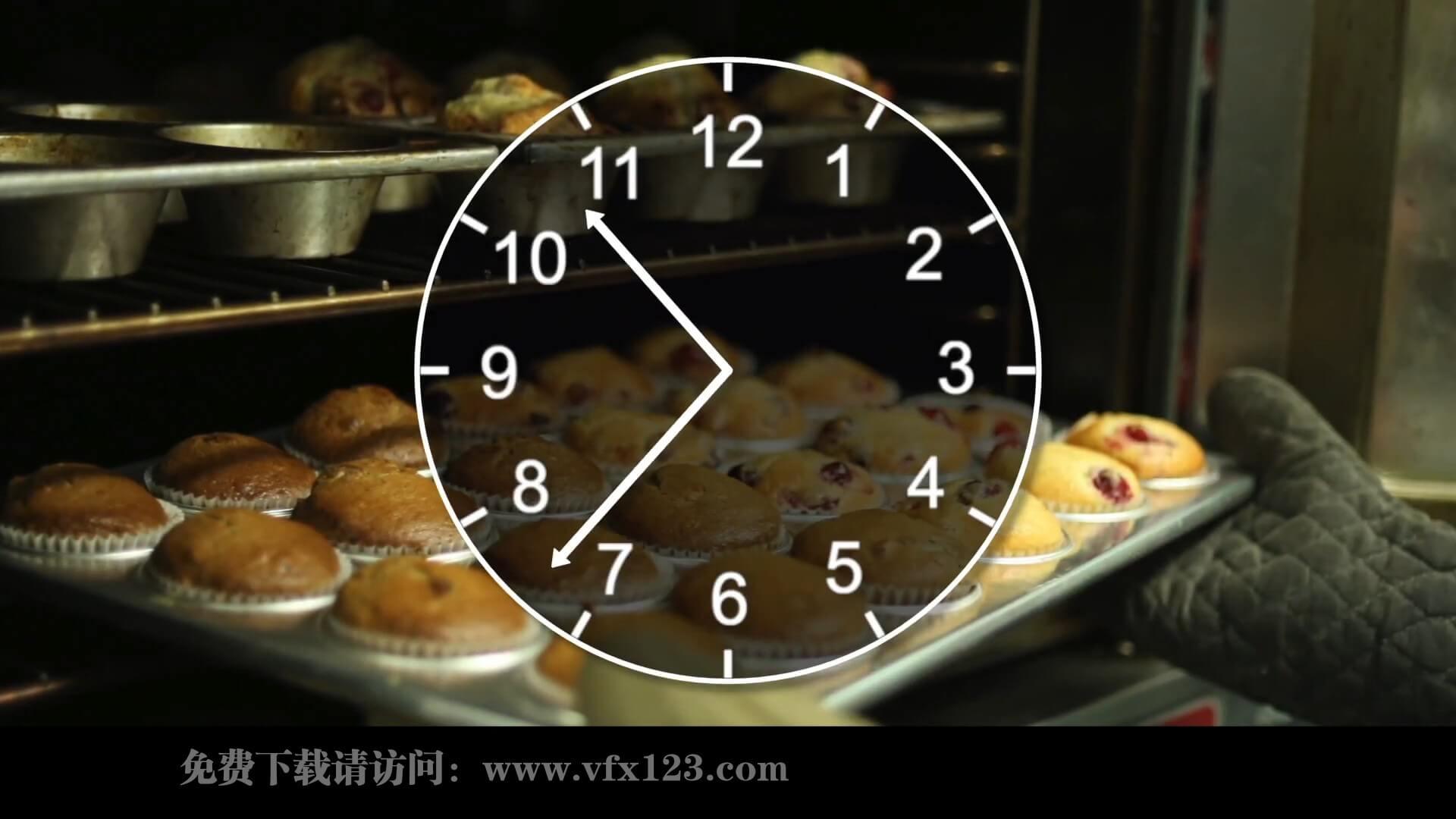 fcpx插件 时钟表盘动画制作工具 表达时间流逝画面快进 Clock Face