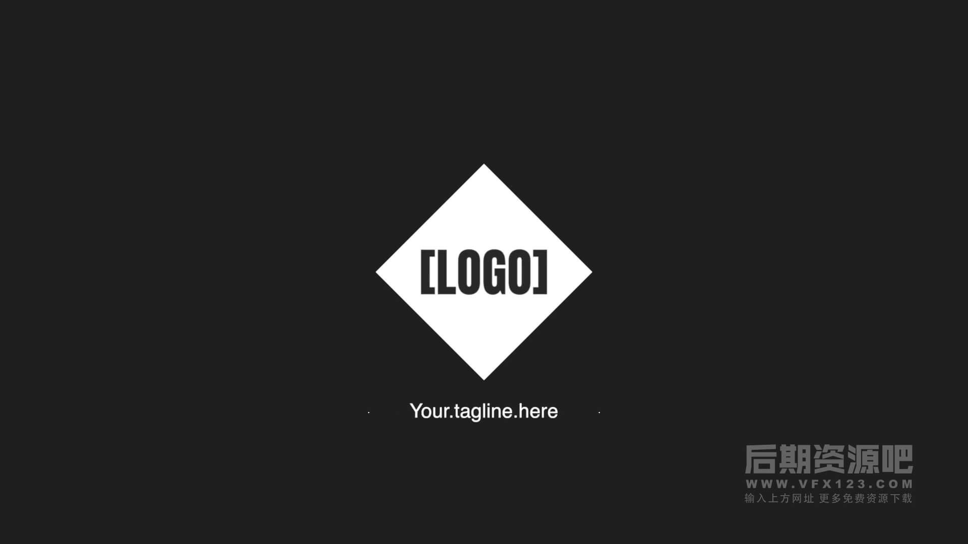 fcpx主题模板 工作室干净简洁迷你LOGO徽标展示 Minimal Shape Logo