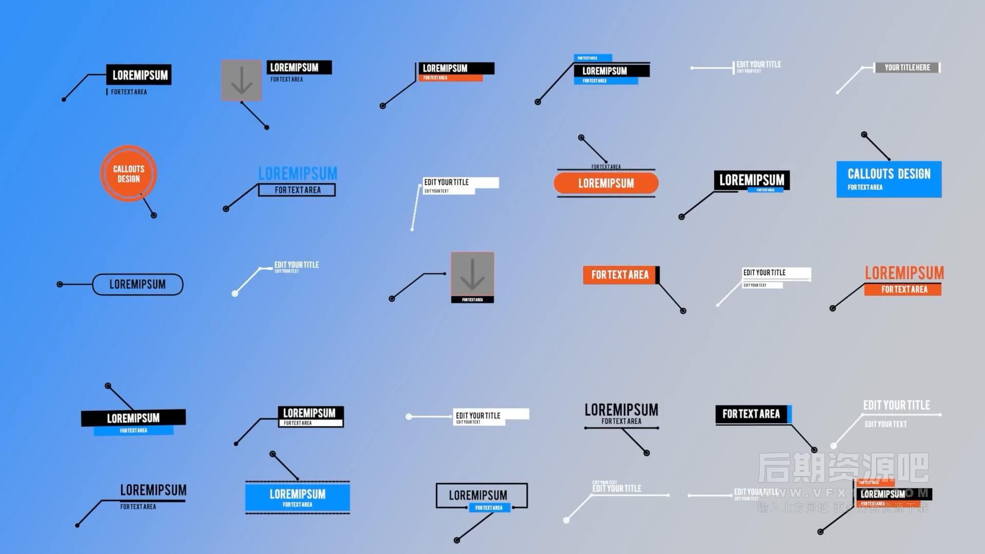 fcpx插件 30个自动跟踪线条呼出字幕标题注释动画+使用参考