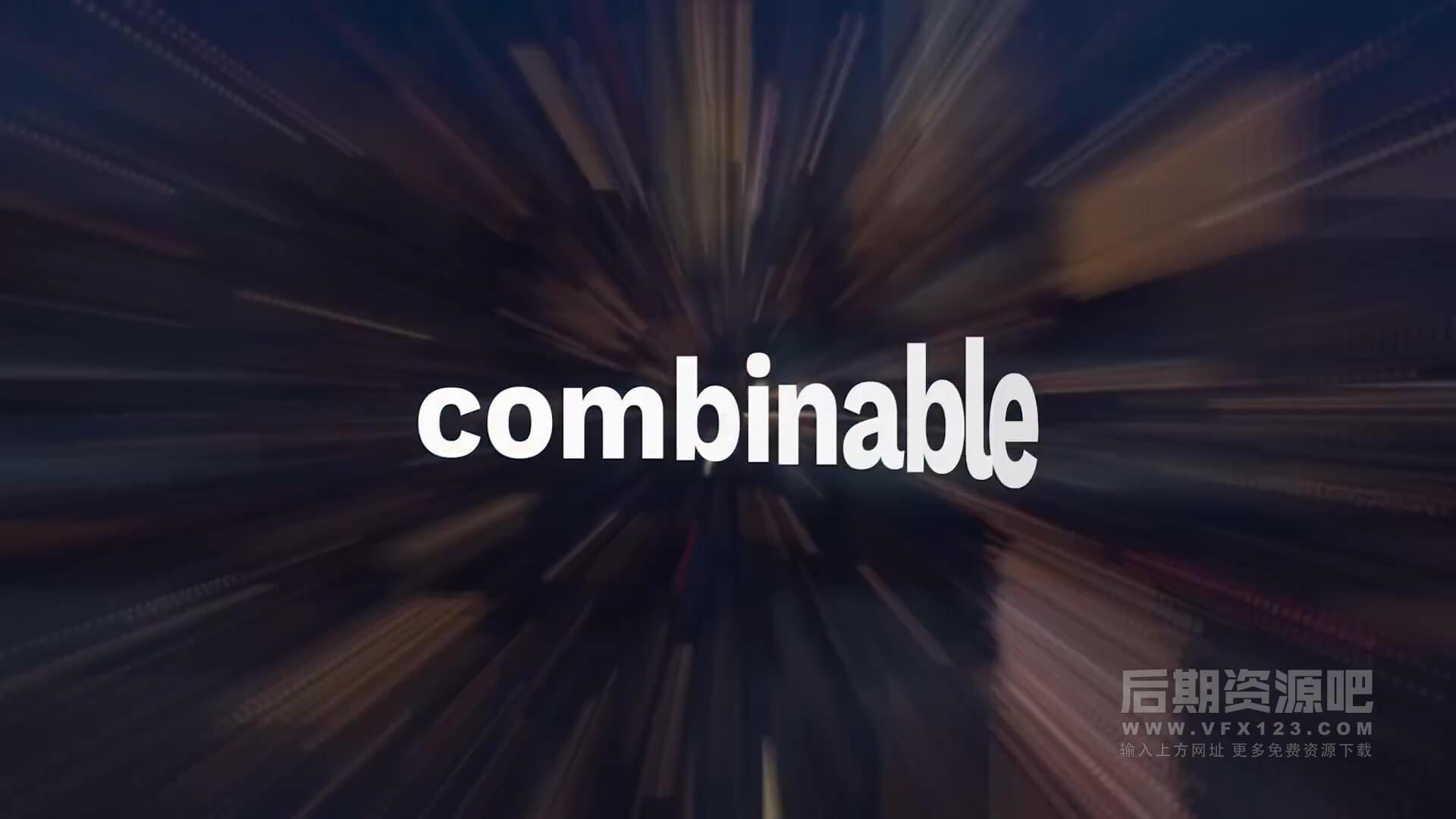 Fcpx标题插件 40组动感活力节奏快闪运动文字标题动画预设 mTitle Kinetic