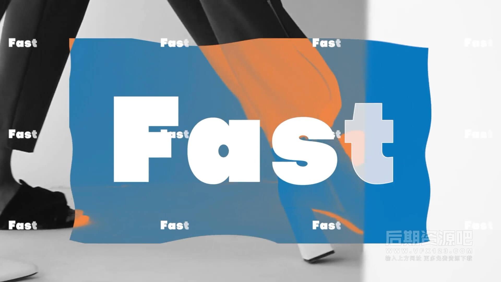 fcpx主题模板 4K快闪大标题卡点图文视频片头模板  Bold Typo Intro
