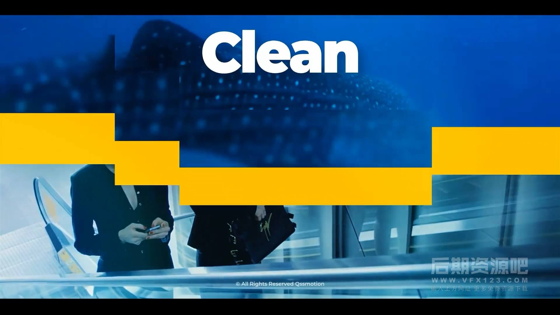 AE模板 129个干净简洁过渡转场 支持4K Clean Minimal Transitions