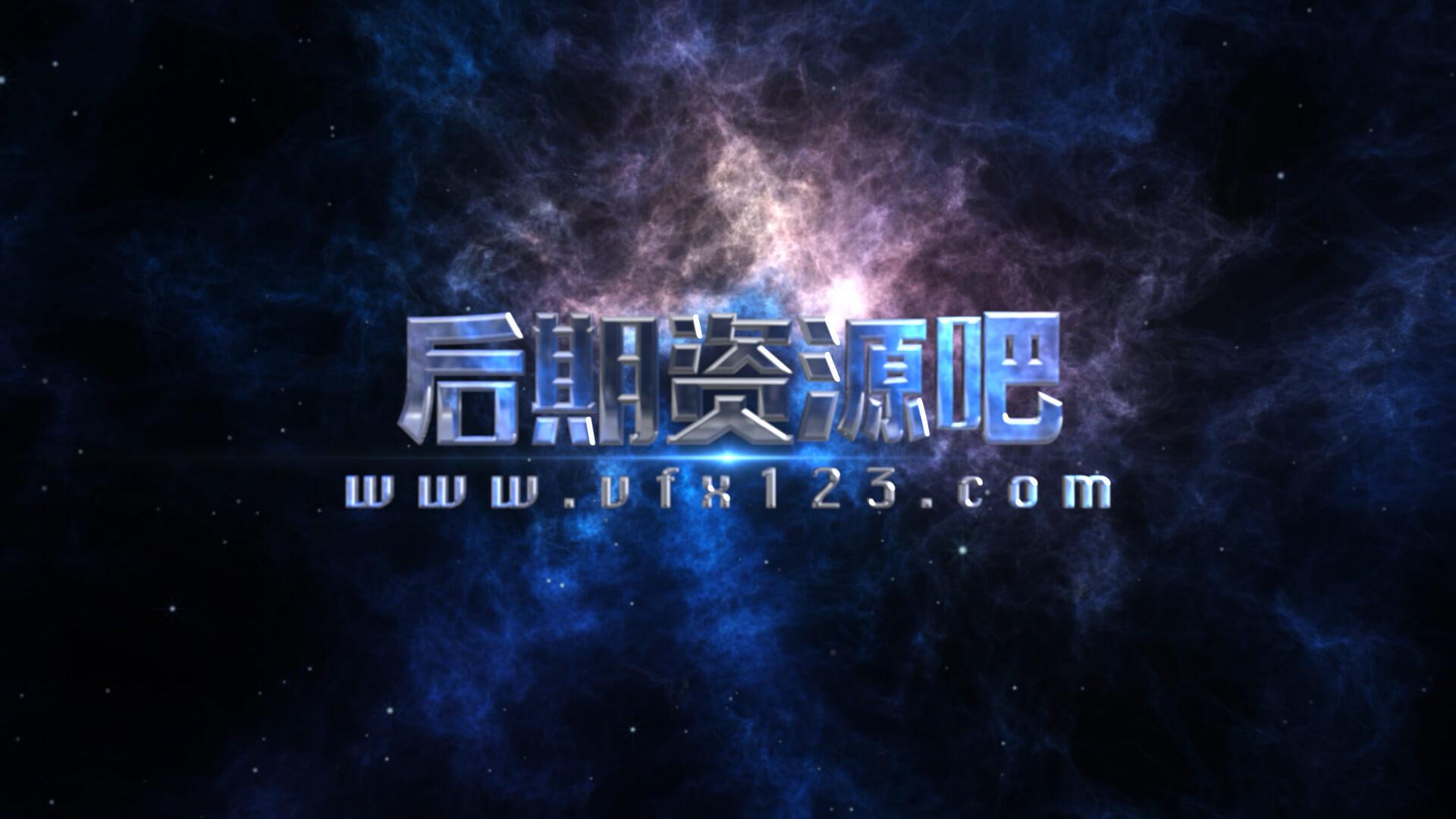 fcpx插件 震撼太空背景3D立体标题电影预告片模板 Space Cinematic Titles