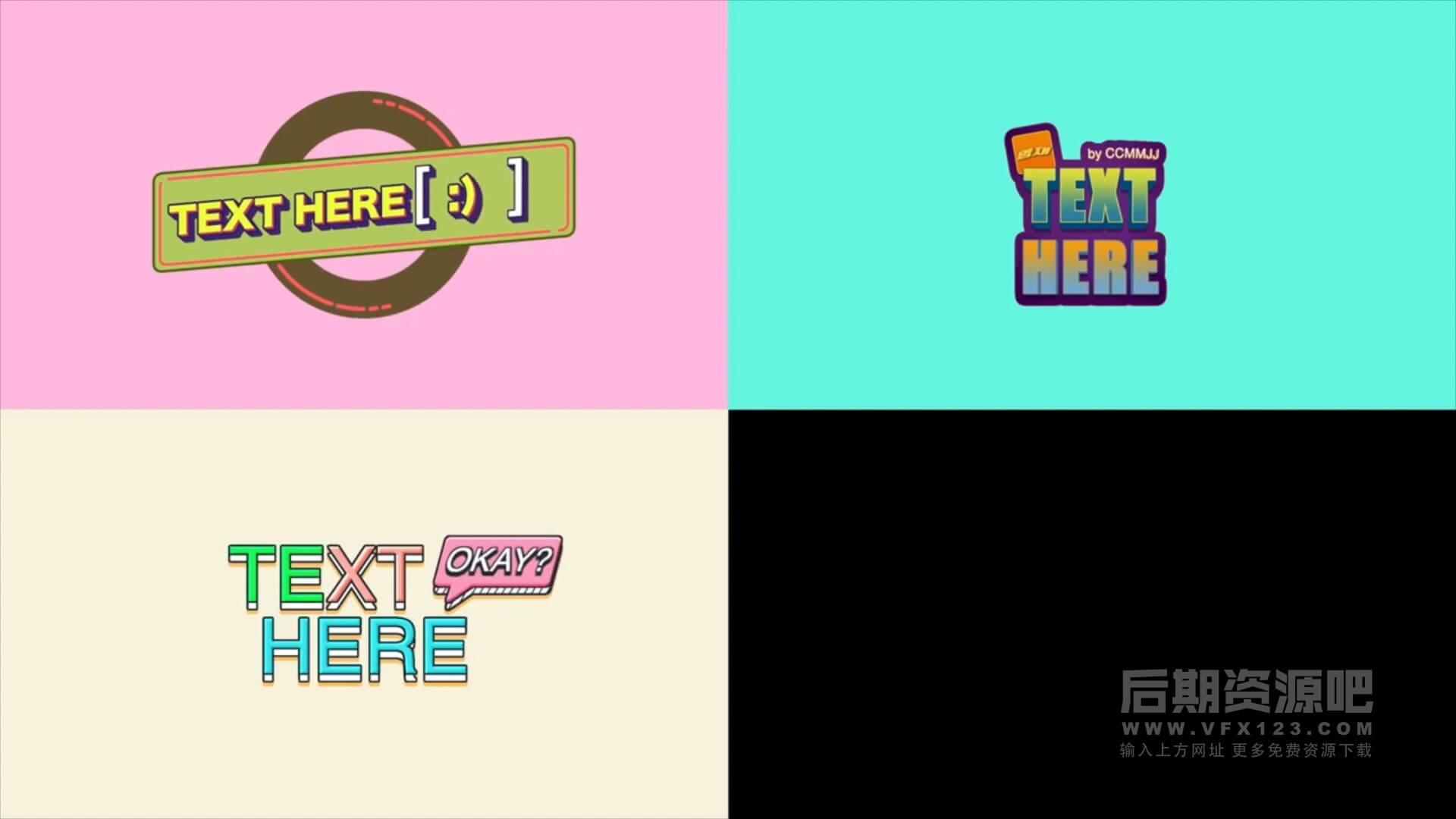 fcpx插件 11个卡通标题综艺花字制作模板 Cartoon Titles