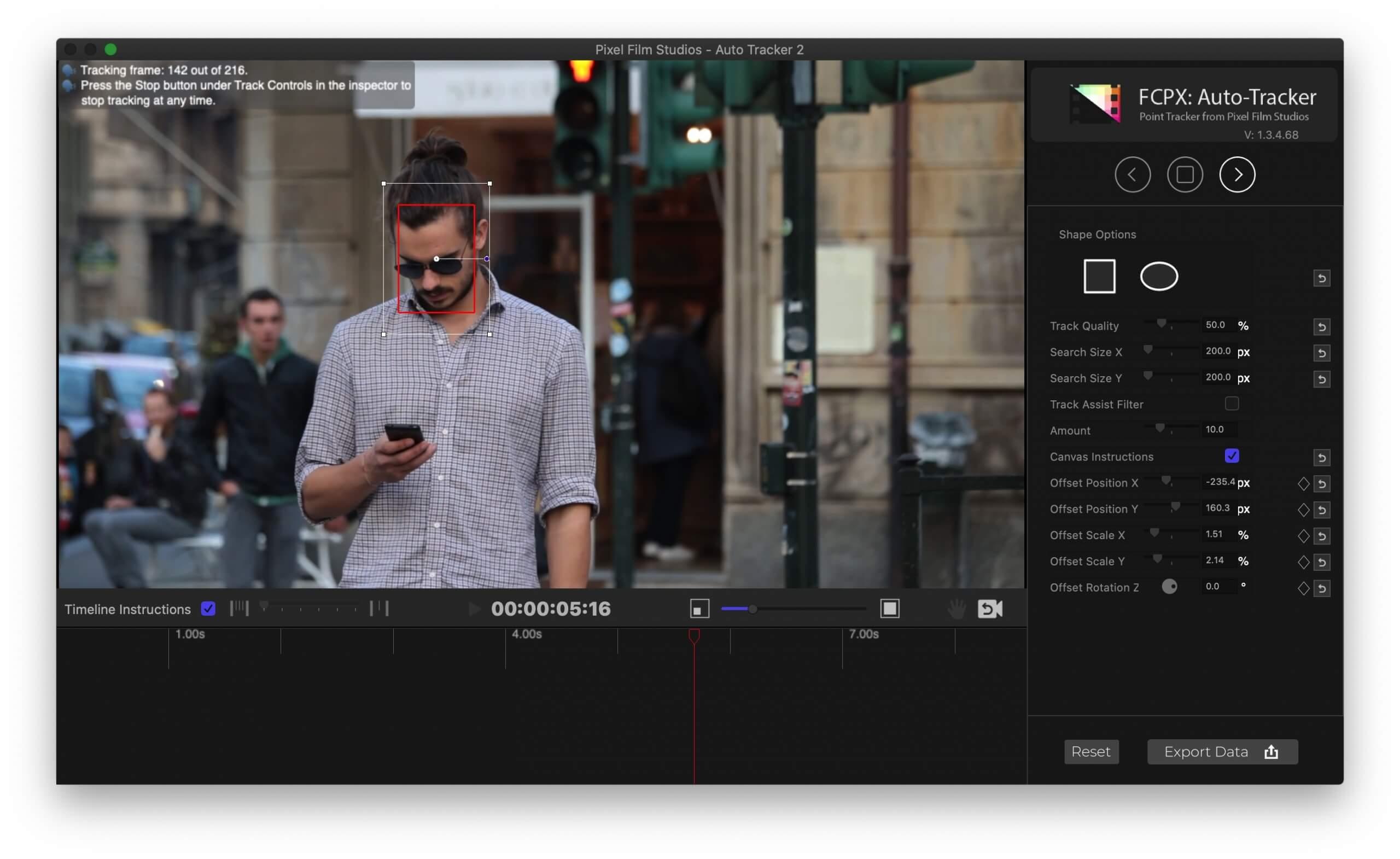 fcpx插件 脸部局部扭曲液化变形自动跟踪工具 支持 fcpx 10.5.1 Distortion Tracker 2