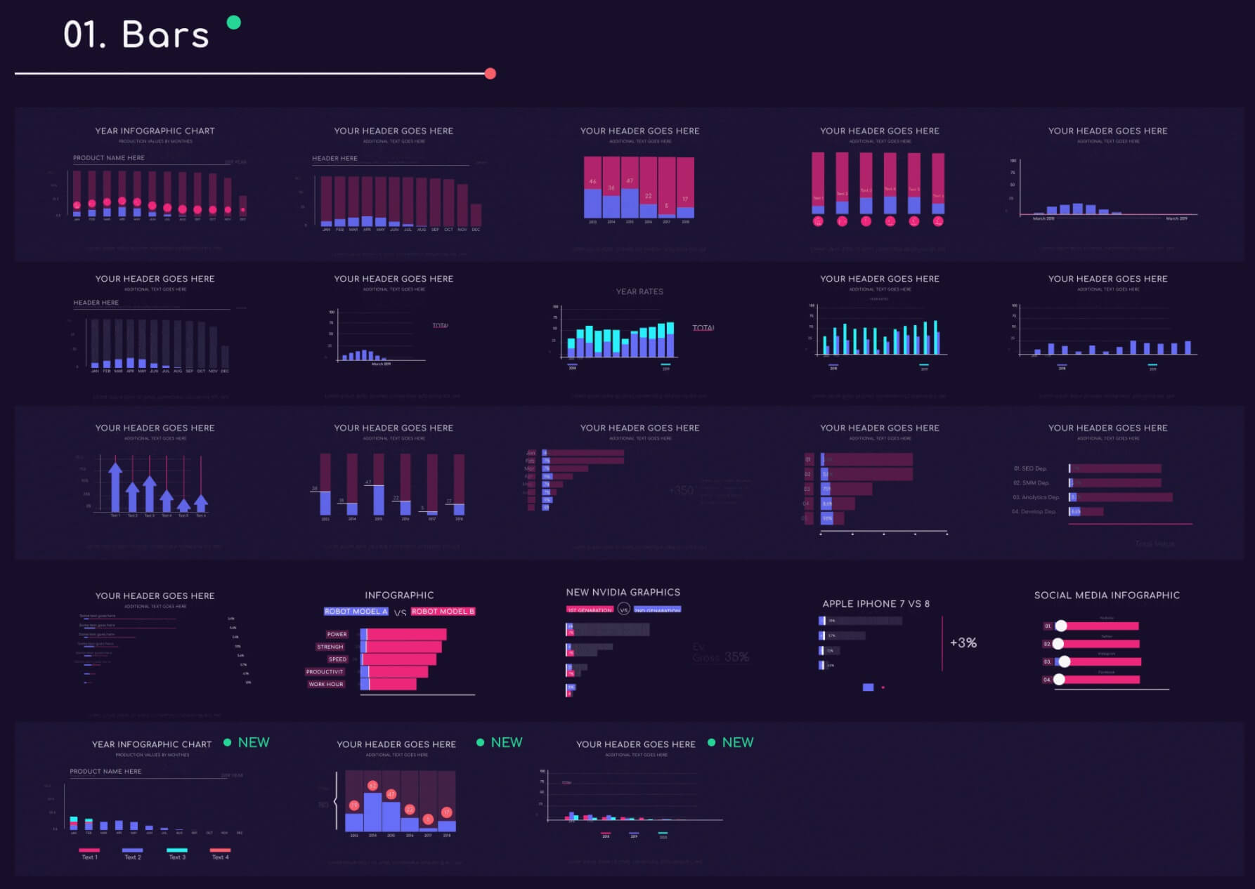 AE模板 700+信息图表条形饼状柱状进度条时间线图标等 Infographic Builder