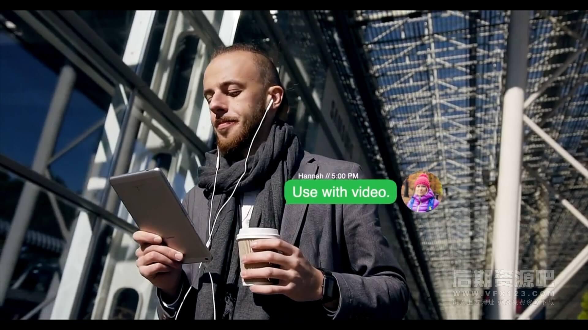 fcpx插件 8种社交聊天对话框带头像气泡弹窗样式 Text Messaging