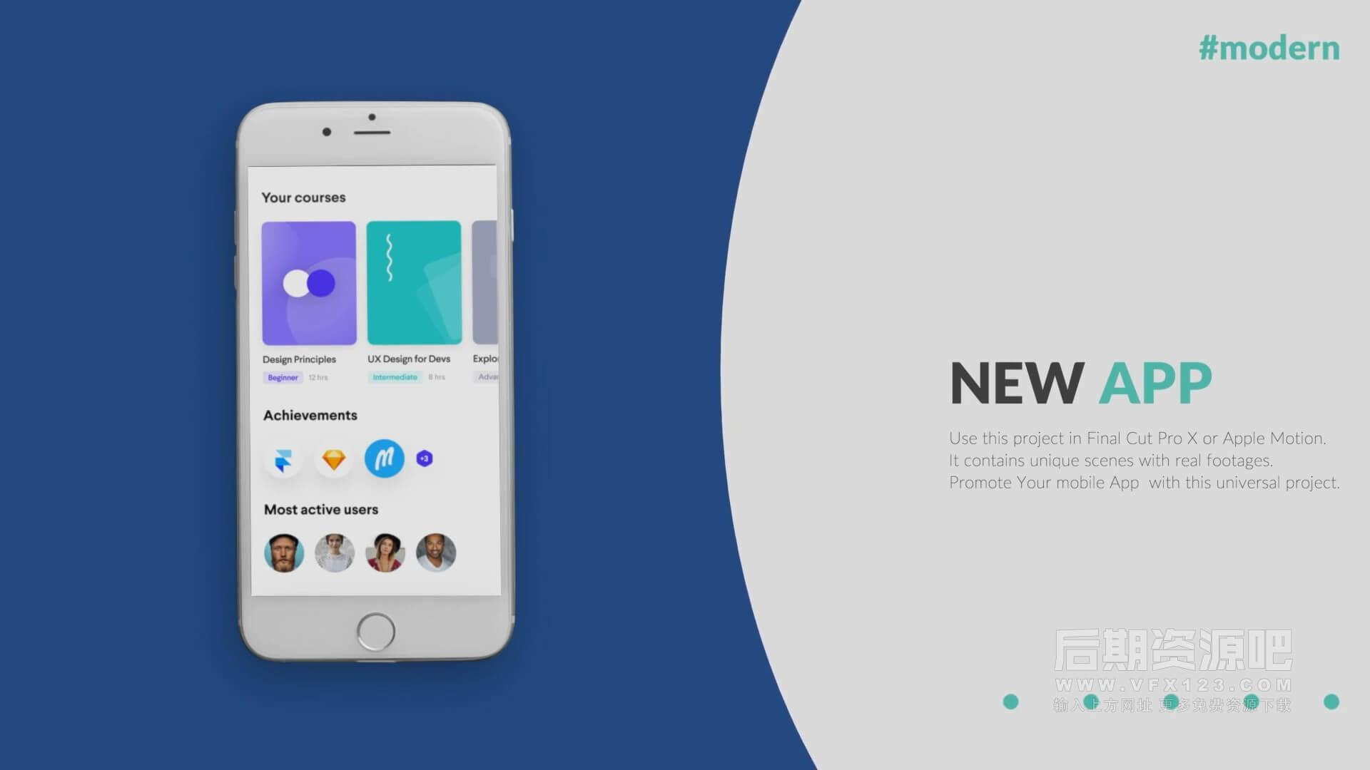 fcpx插件 苹果应用推广促销演示场景样机模板 Mobile App Promo