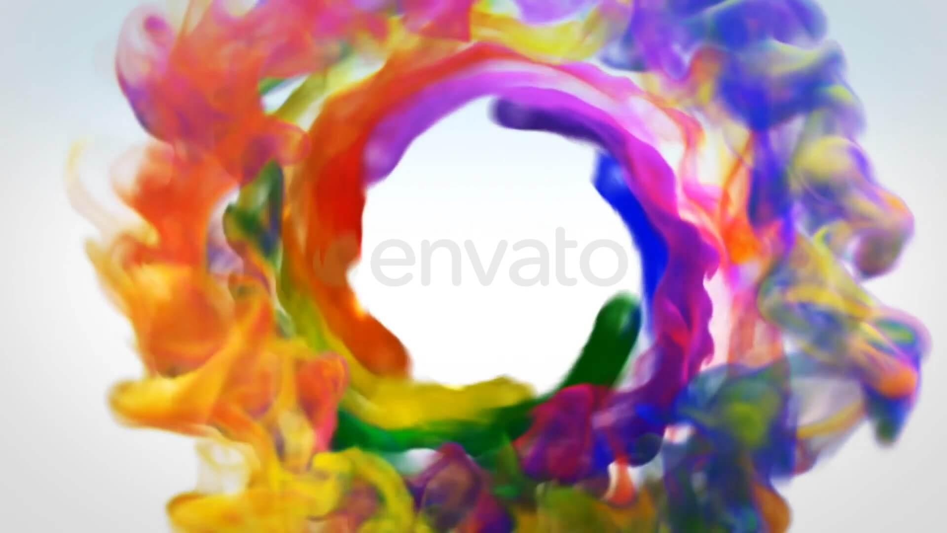 fcpx主题模板 彩色烟雾特效LOGO徽标展示片头 Colorful Smoke Logo Reveal