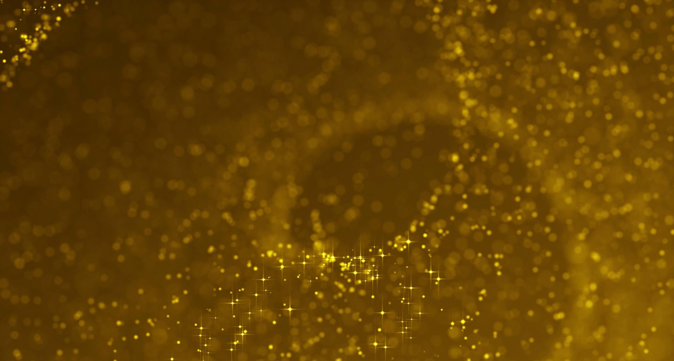 视频素材 9个高清大气金色粒子预告片背景素材 Golden Particles