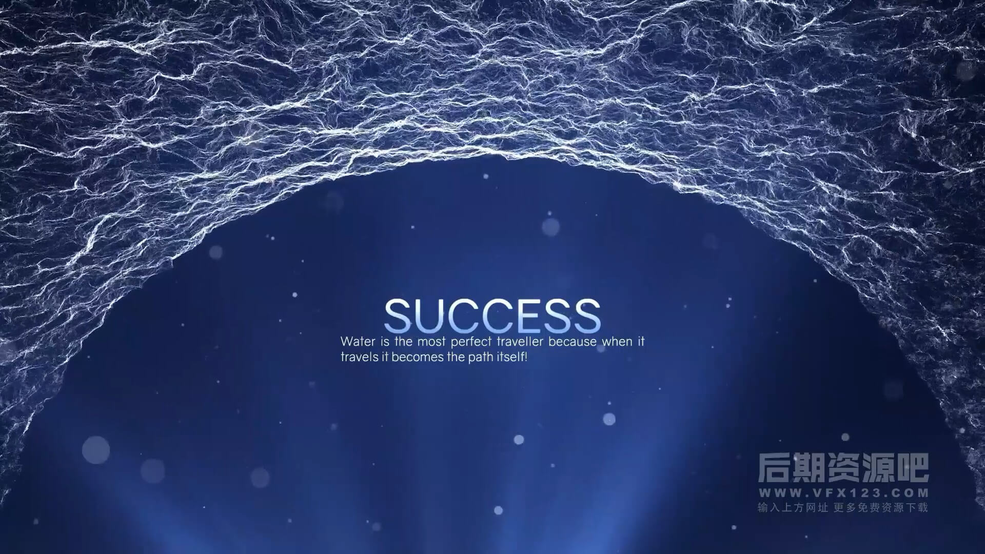 fcpx主题模板 四维水主题励志创意大气电影预告片 Water Inspirational