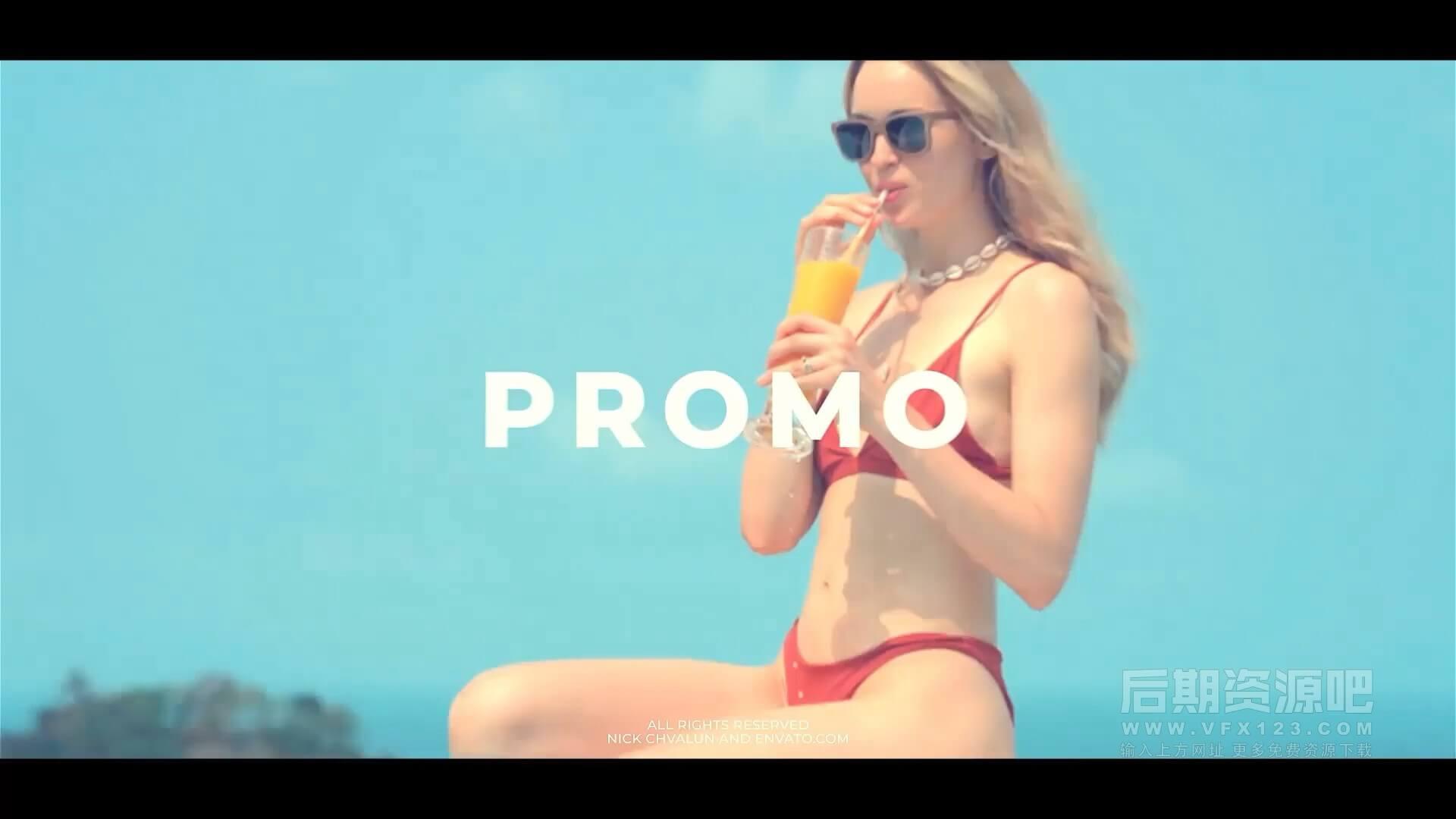 fcpx主题模板 时尚流行个性节奏感图文展示片头 Fashion Slideshow