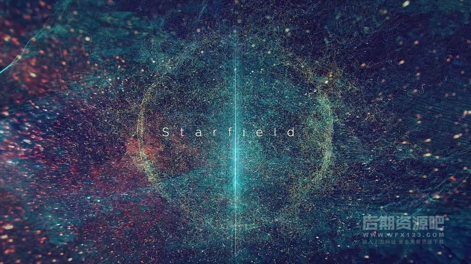 fcpx主题模板 大气深沉星空背景预告片片头 12分镜自由组合 Starfield