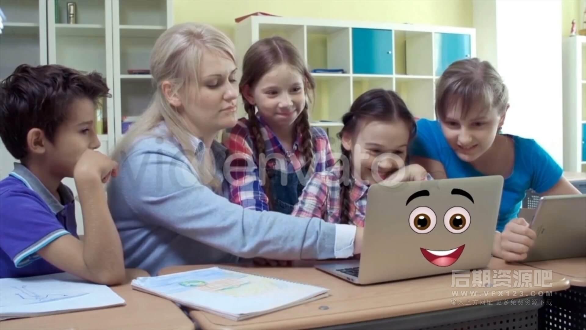视频素材 29个4K无缝循环卡通表情动画 带通道 Cartoon Emoticons