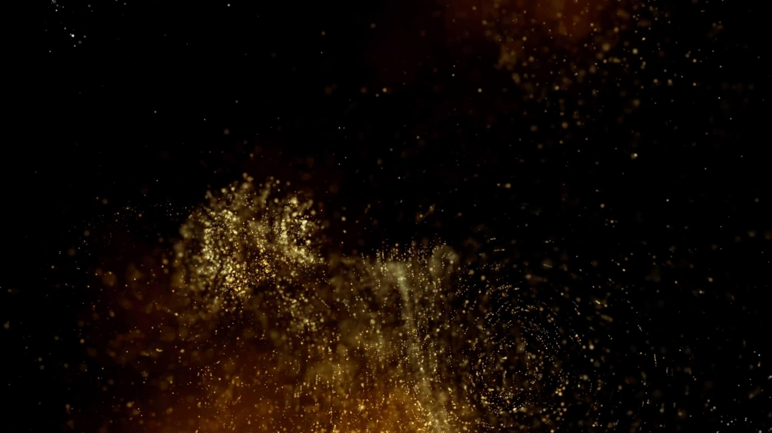 视频素材 20个4K金色粒子背景素材 Gold Glitter Background