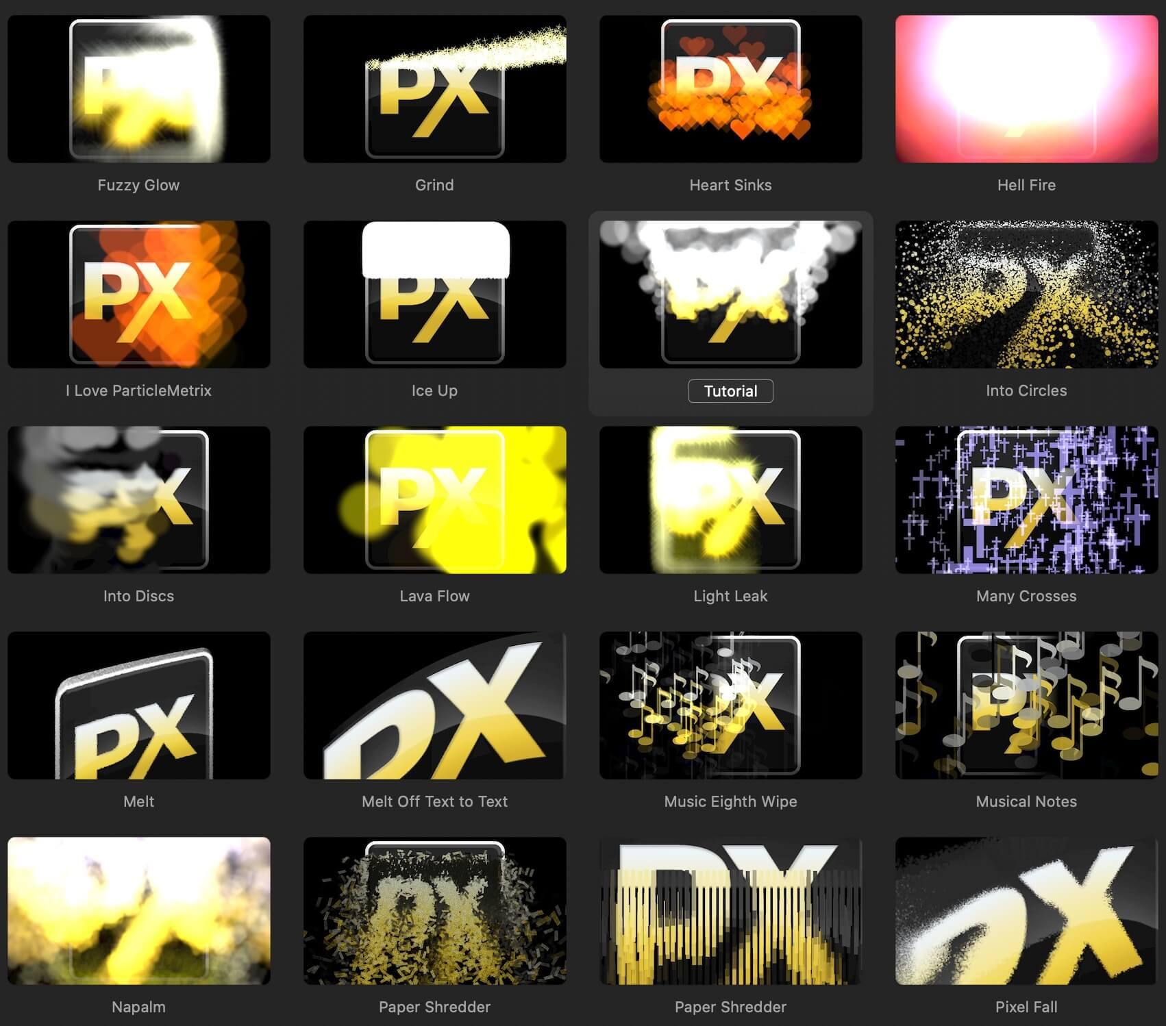 fcpx插件 55个视频图像文字添加粒子效果+21个粒子转场 ParticleMetrix